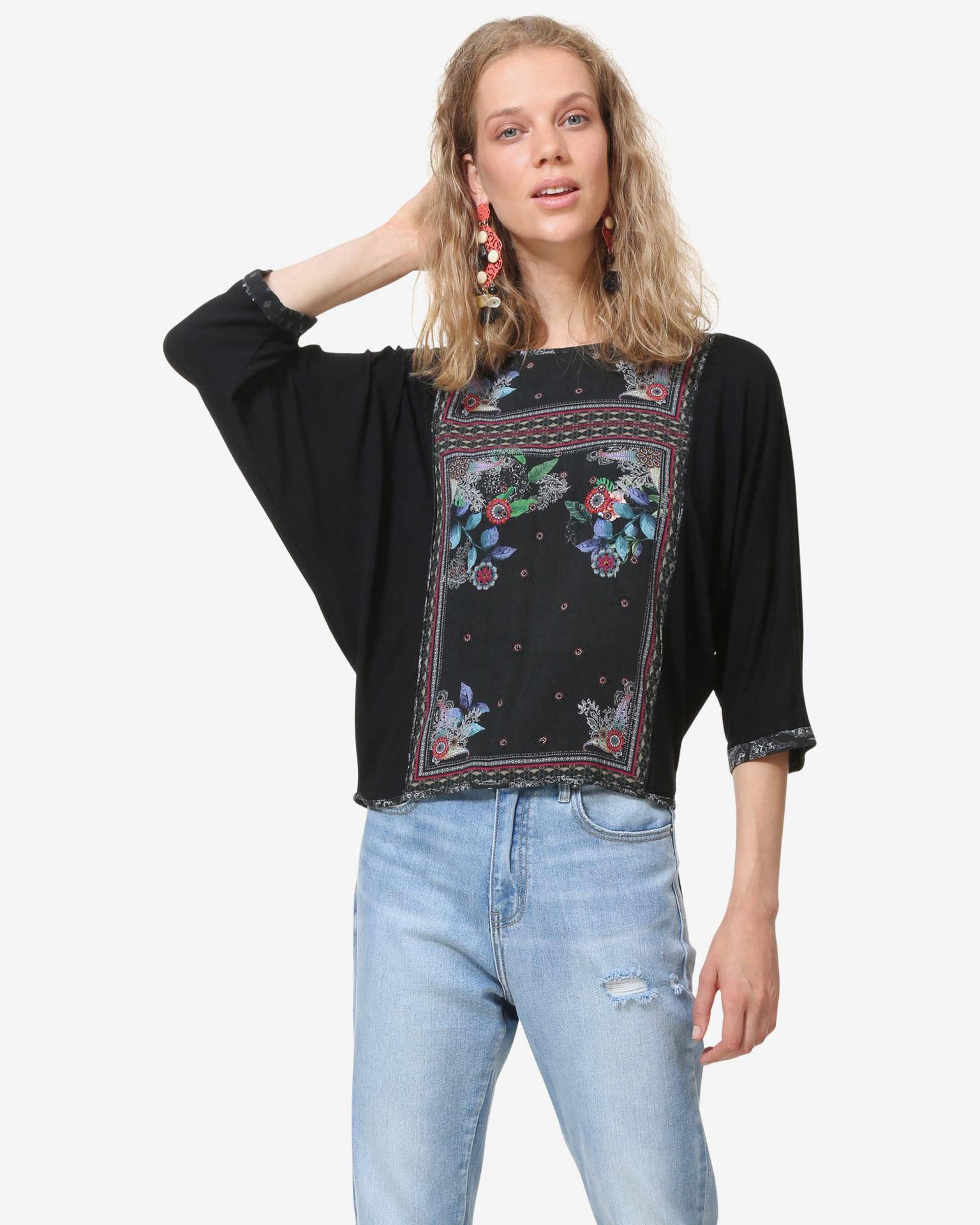 Desigual černé dámské tričko Orinoco