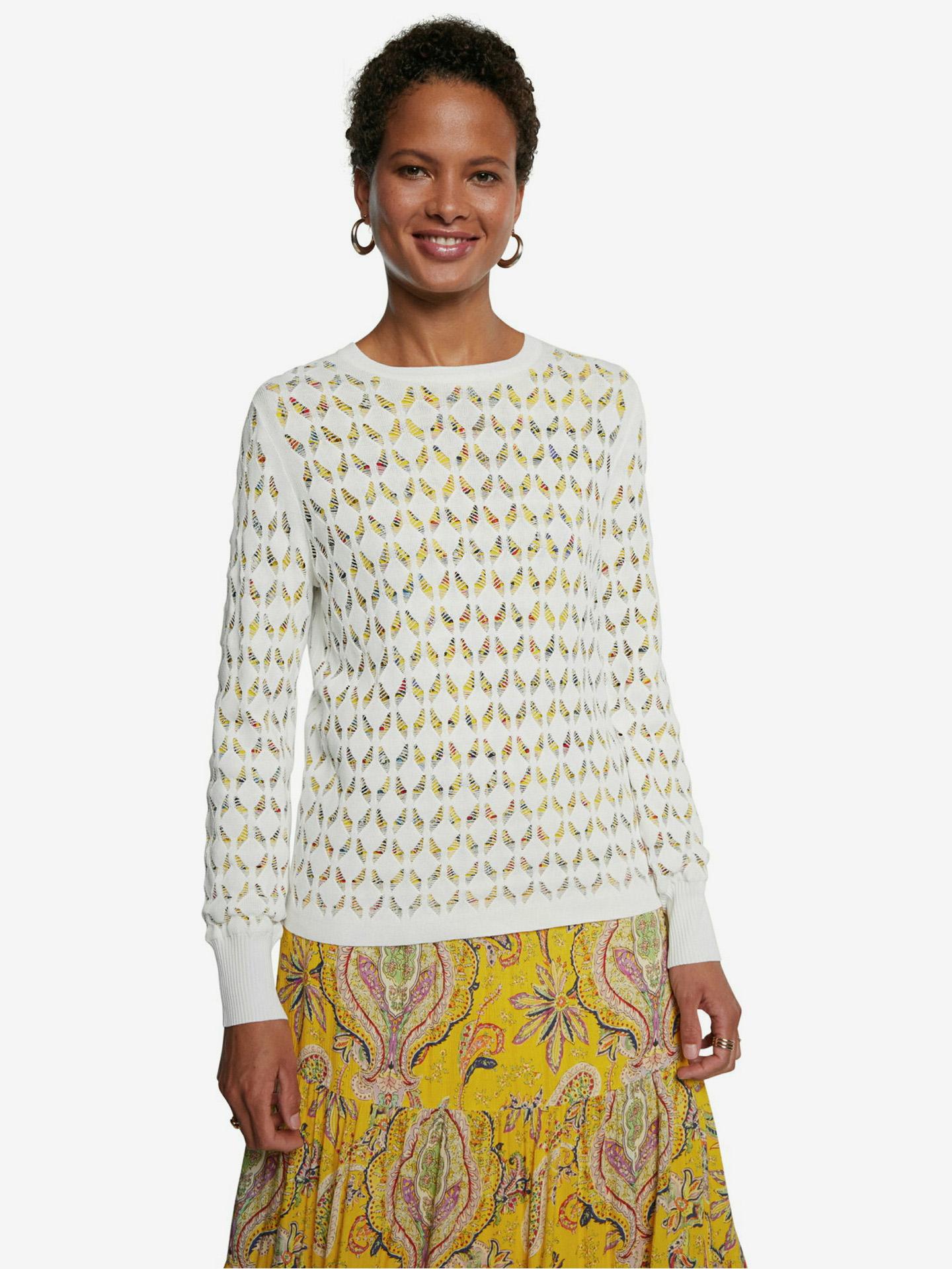 Desigual bílé svetr Saint Louis - M