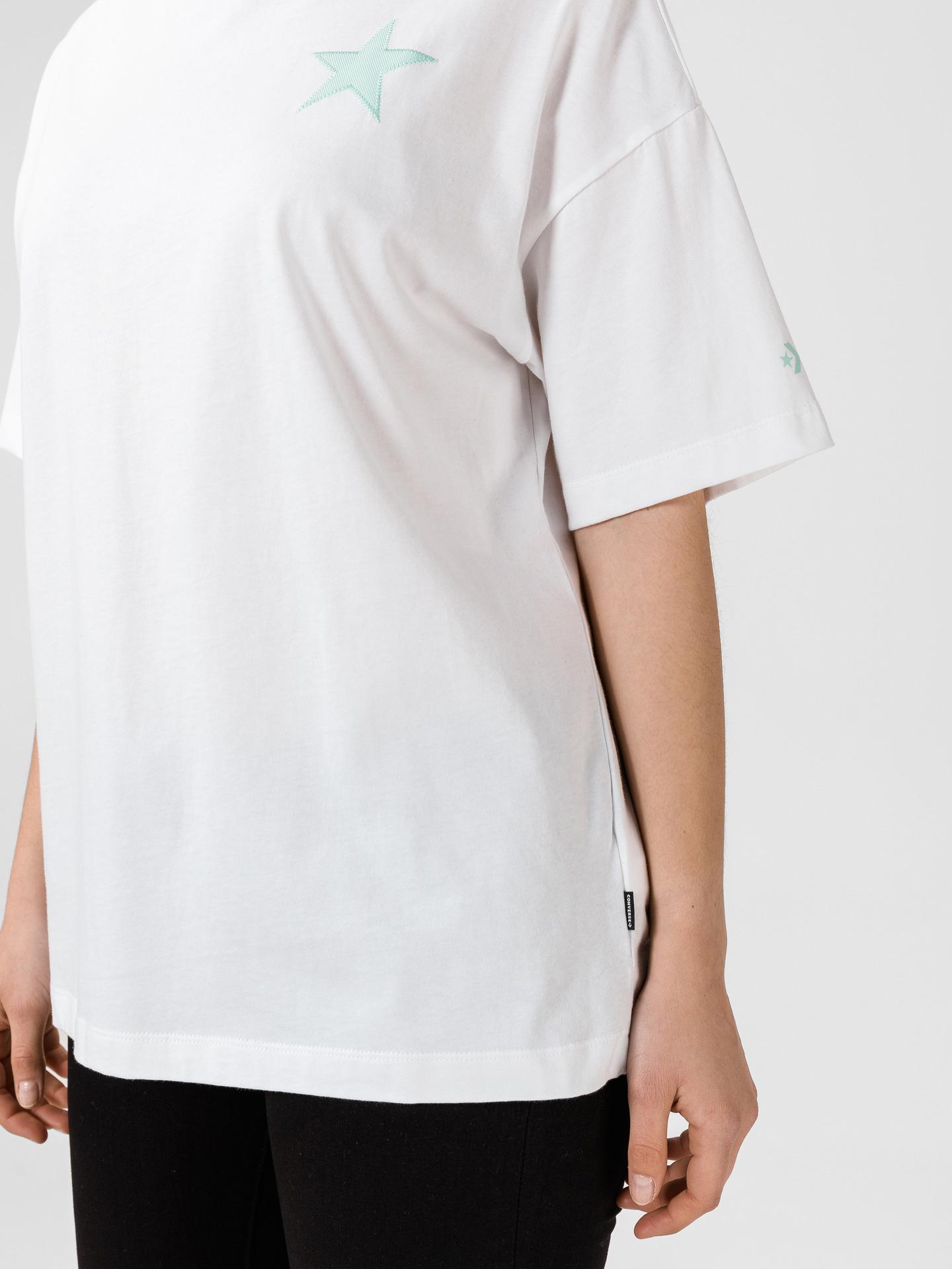 Converse bílé dámské tričko Twisted Varsity