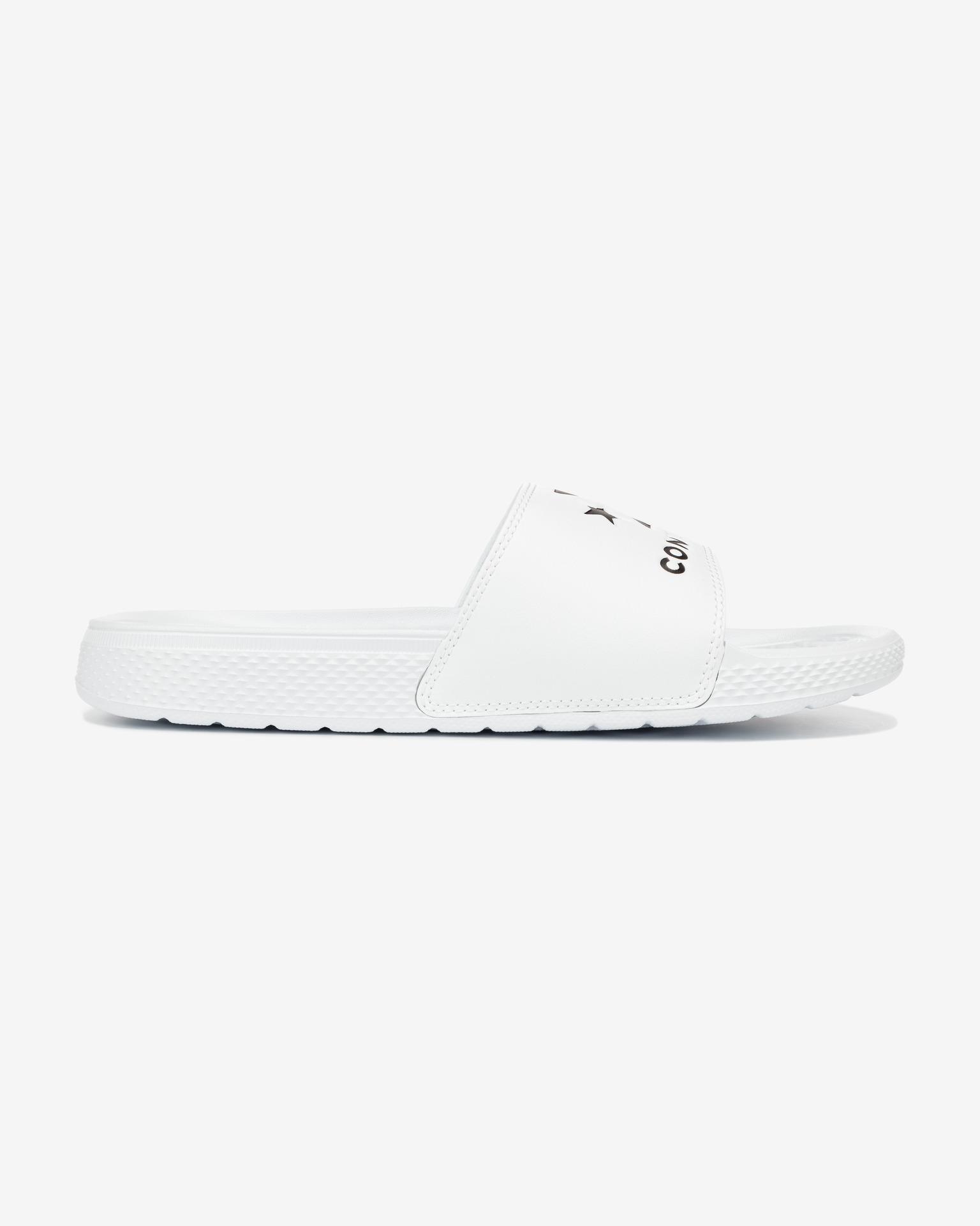 Converse bílé pánské pantofle All Star Slide - 37 1/2