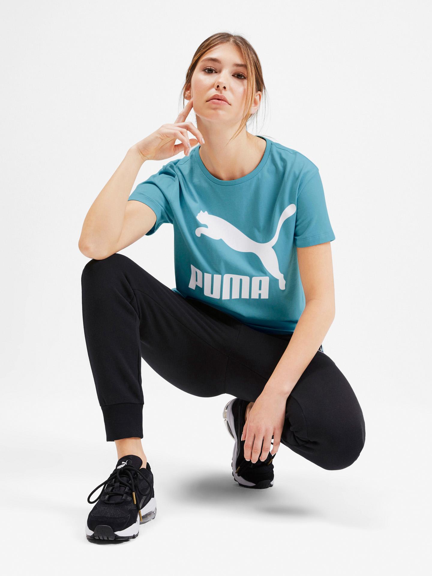 Puma modré dámské tričko Classics