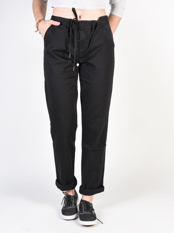 Vans UNION black plátěné kalhoty dámské - černá - M