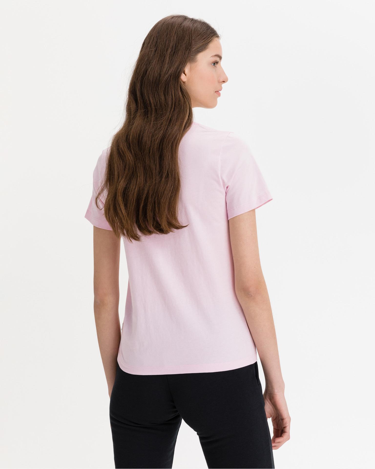 Converse růžové dámské tričko Star Chevron Center Front