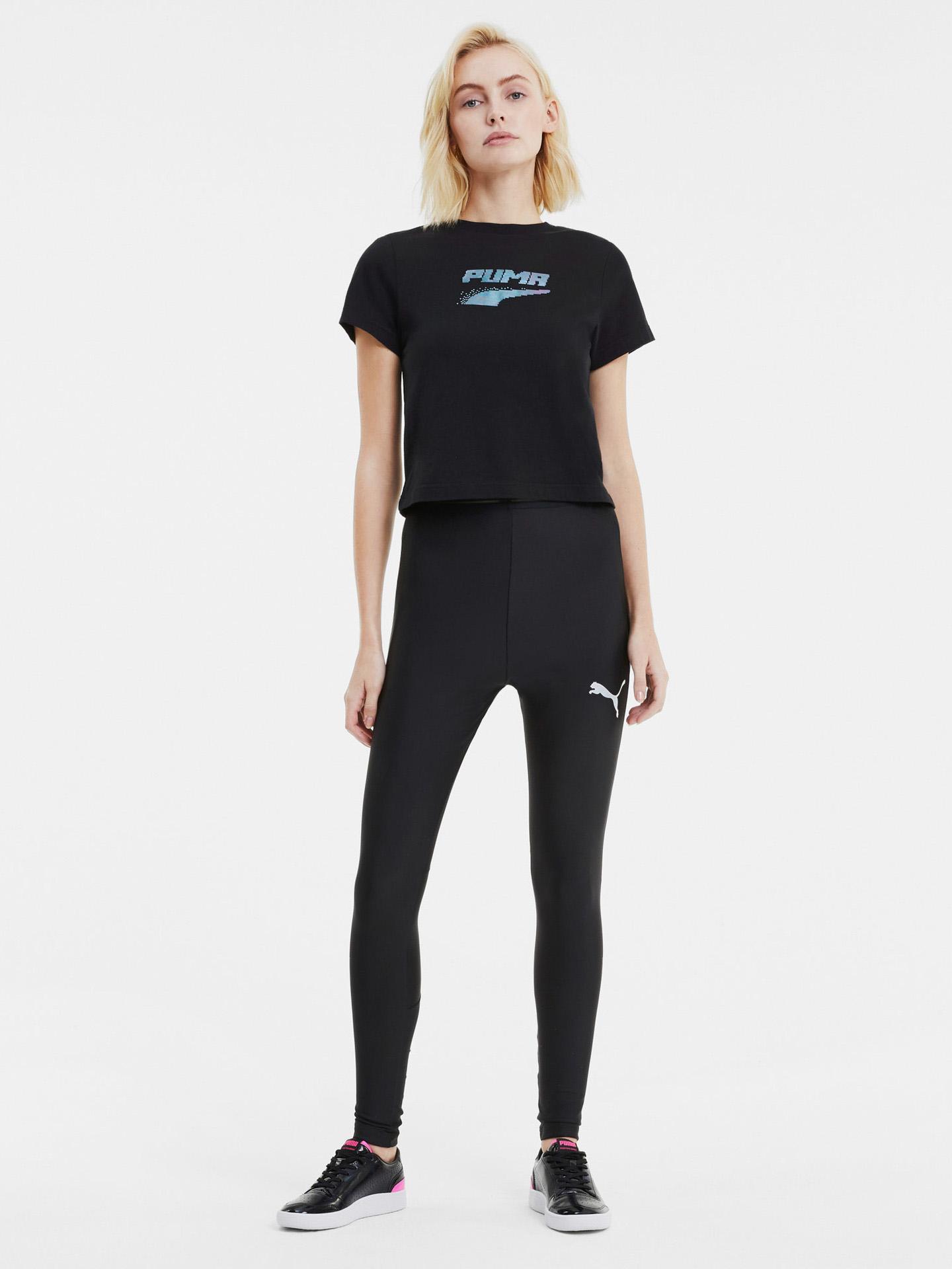 Puma černé dámské tričko Evide Graphic