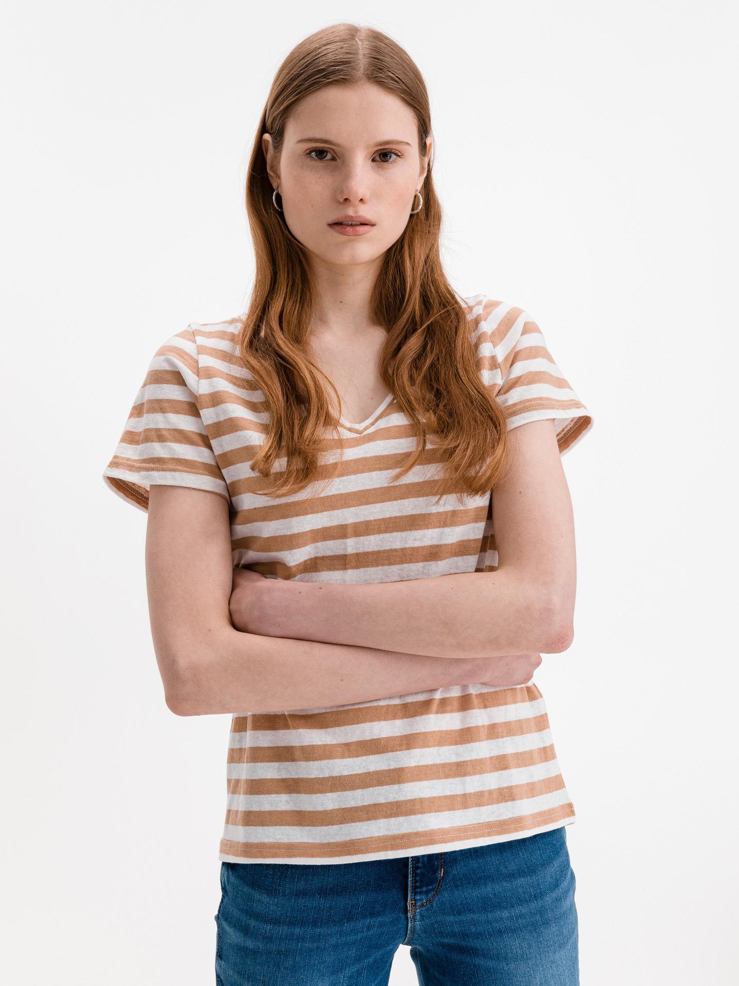 Ichi béžové dámské tričko Yulietta