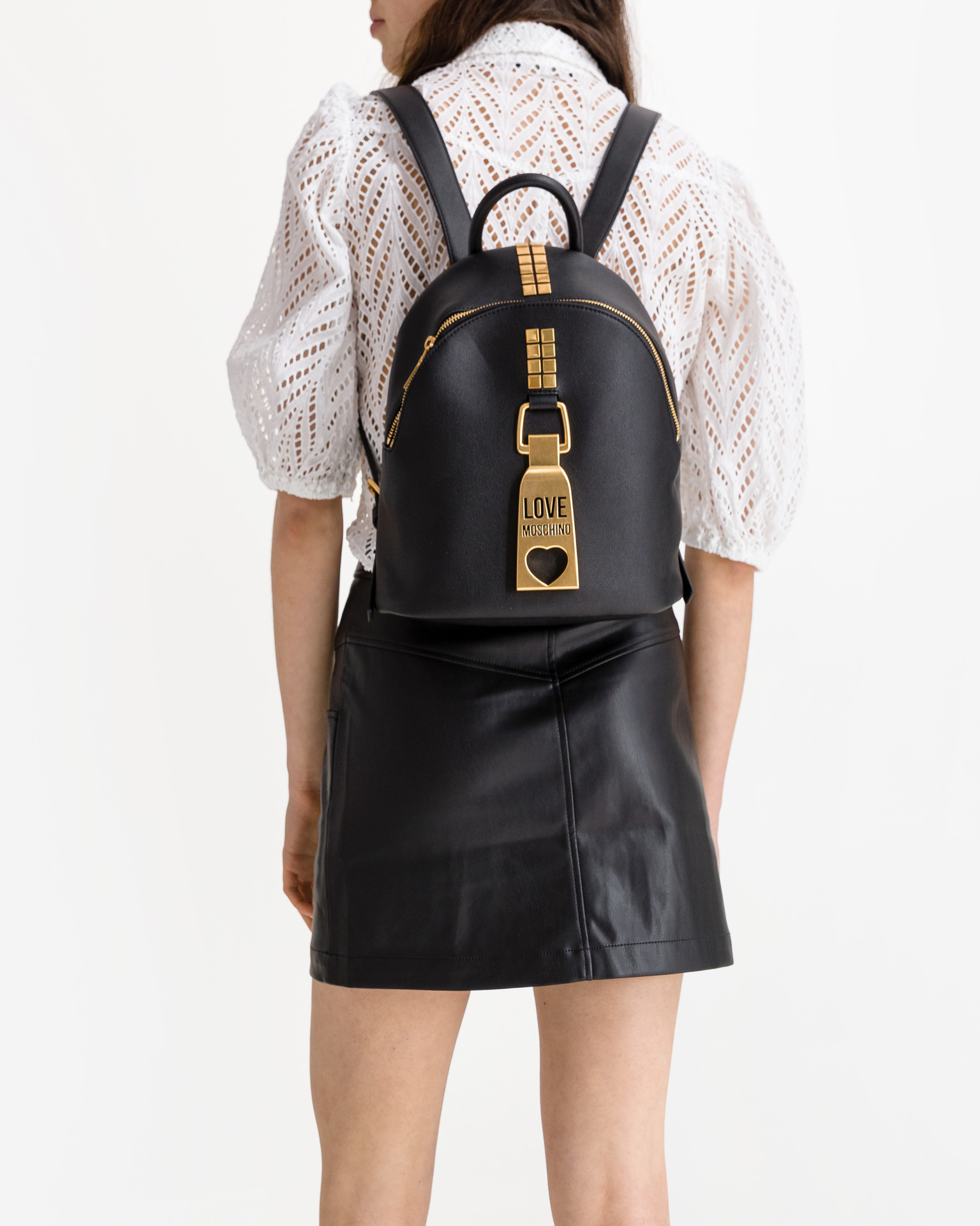 Love Moschino černé batoh
