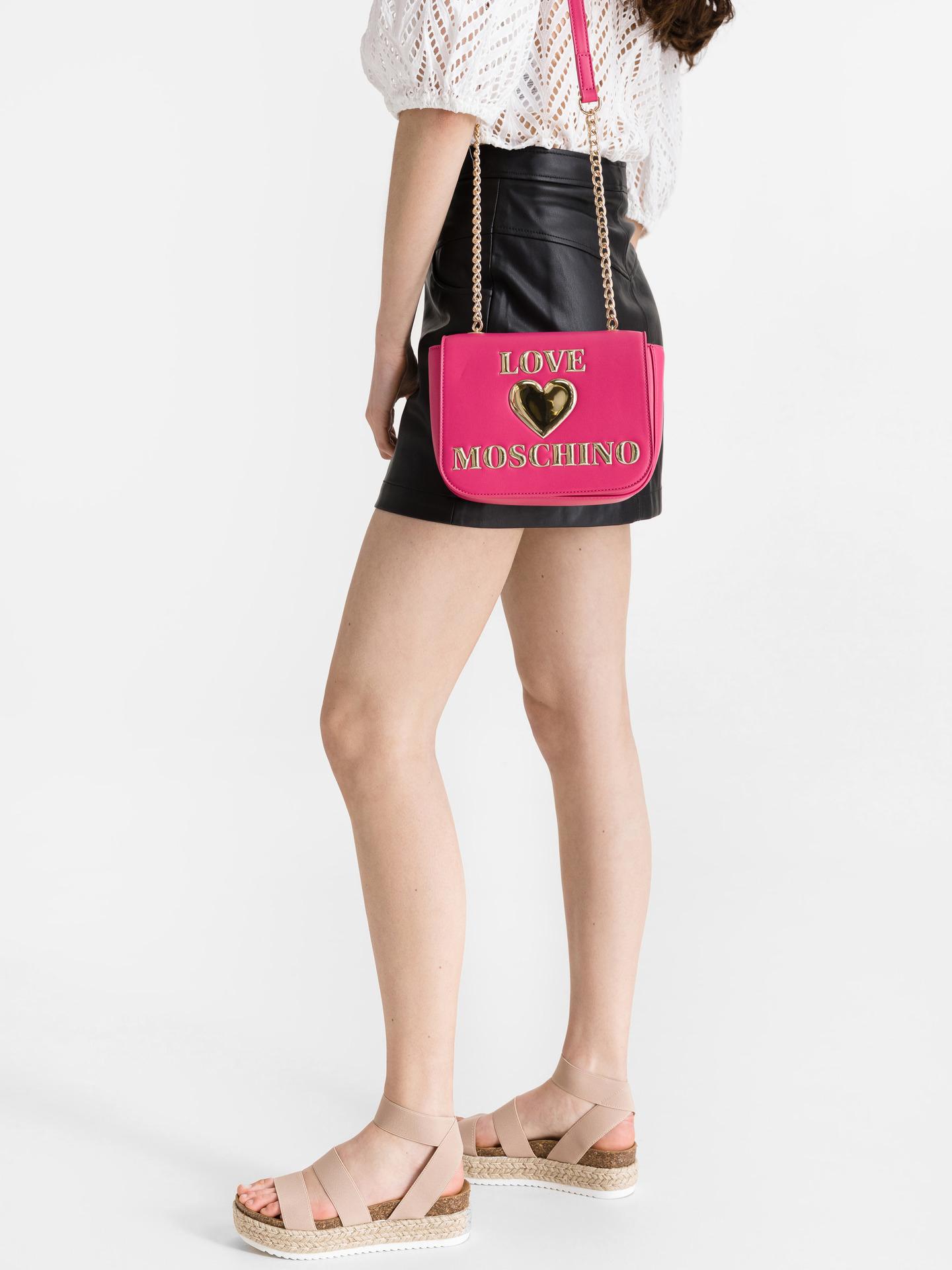 Love Moschino růžové crossbody kabelka