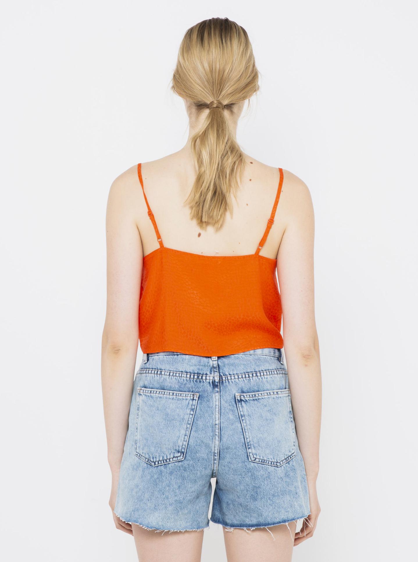 CAMAIEU oranžové dámský top