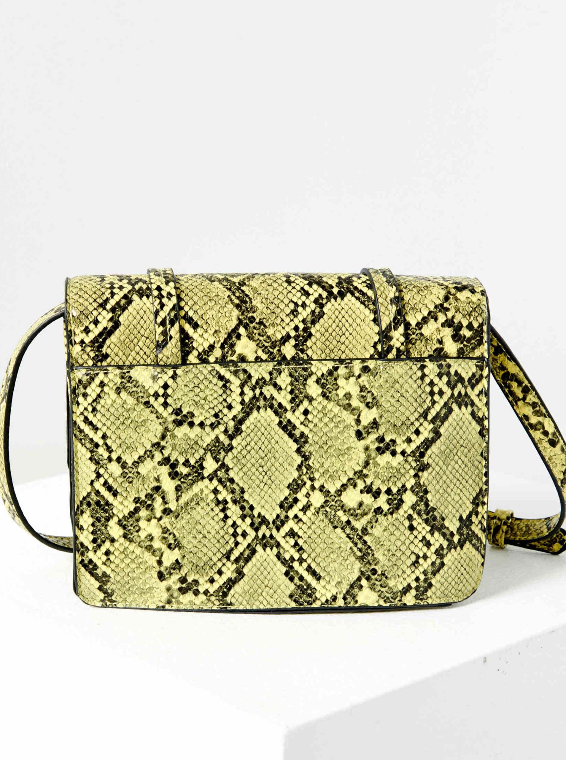 Zelená crossbody kabelka s hadím vzorem CAMAIEU