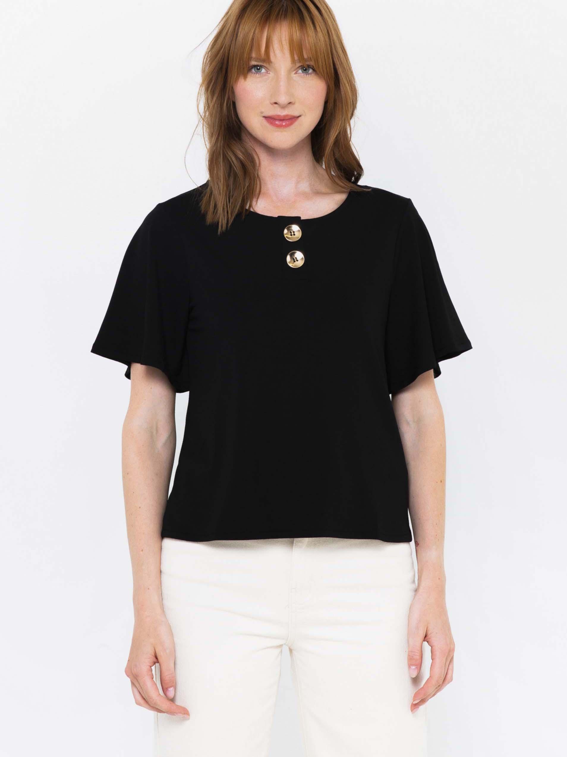 CAMAIEU černé tričko