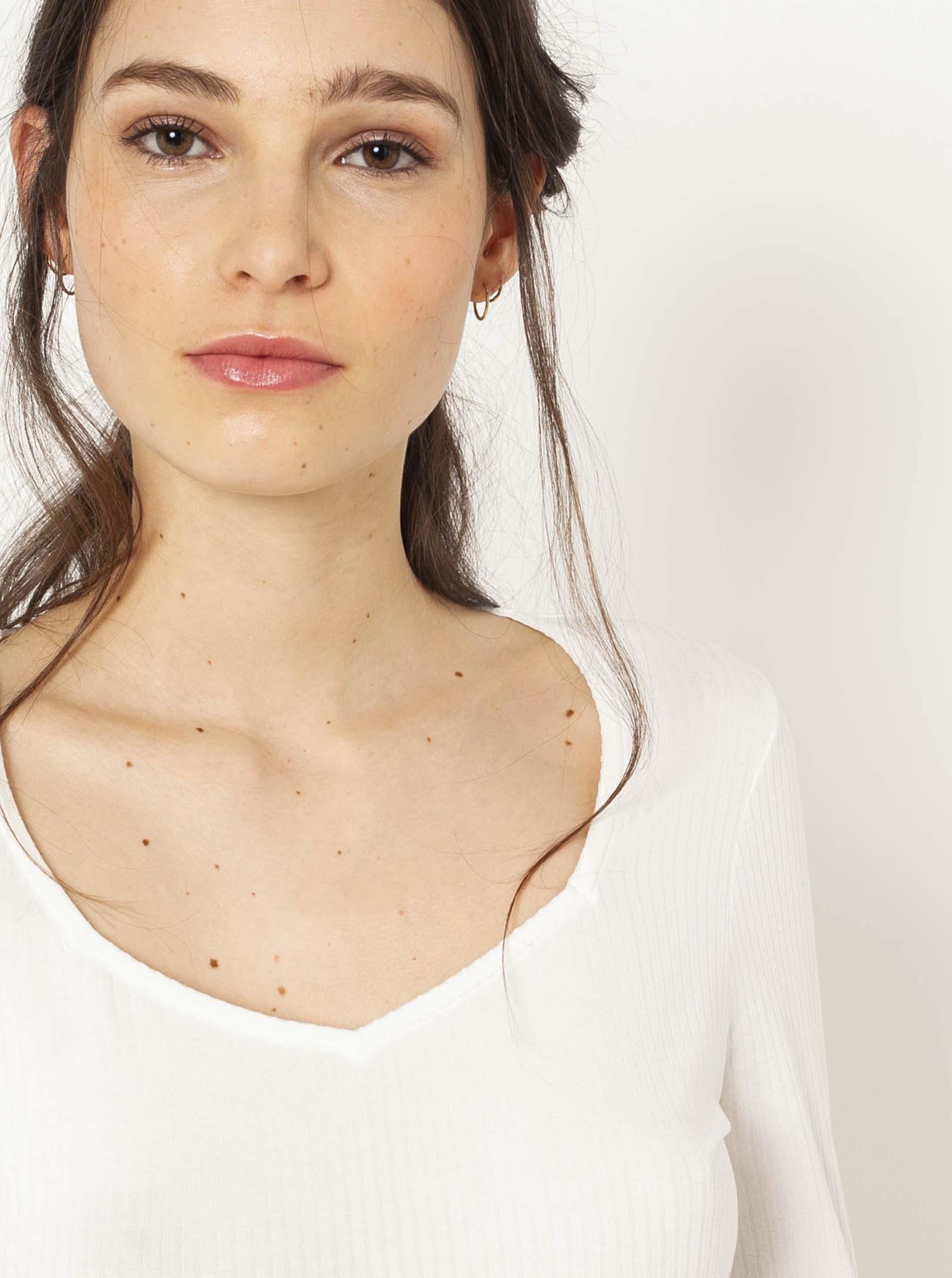 CAMAIEU bílé dámské tričko