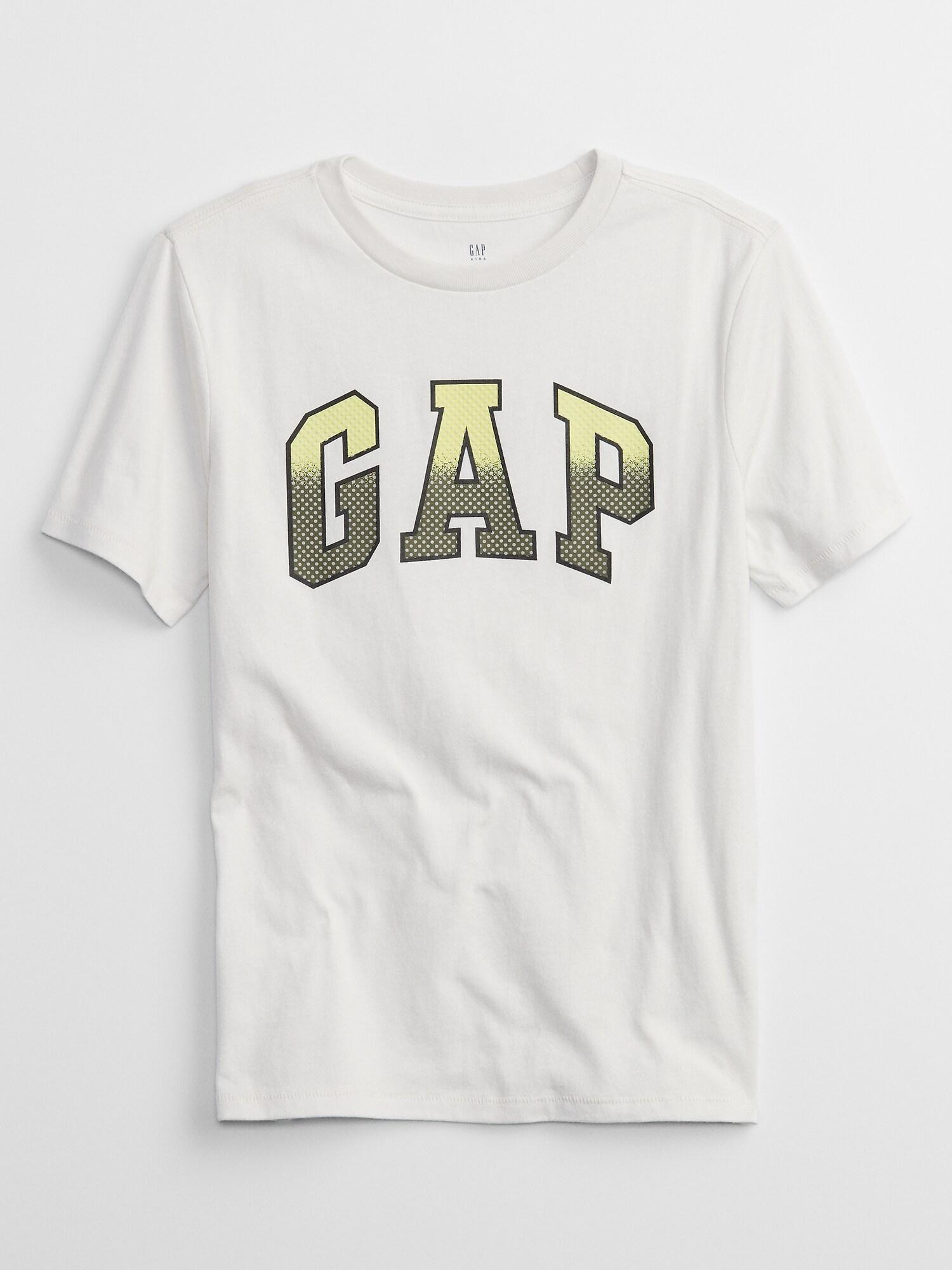Bílé klučičí dětské tričko GAP Logo interact graphic t-shirt