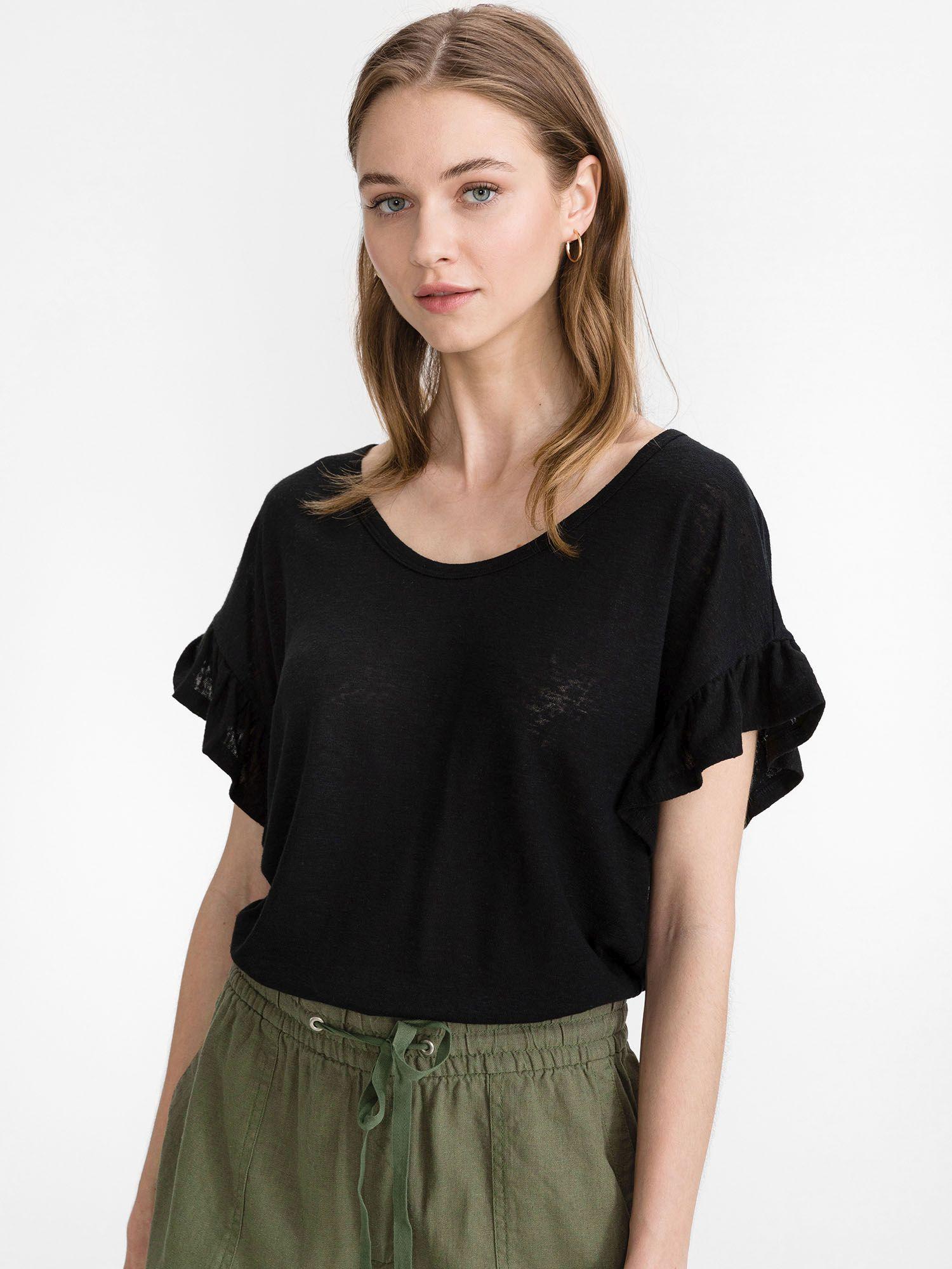GAP černé tričko Linen