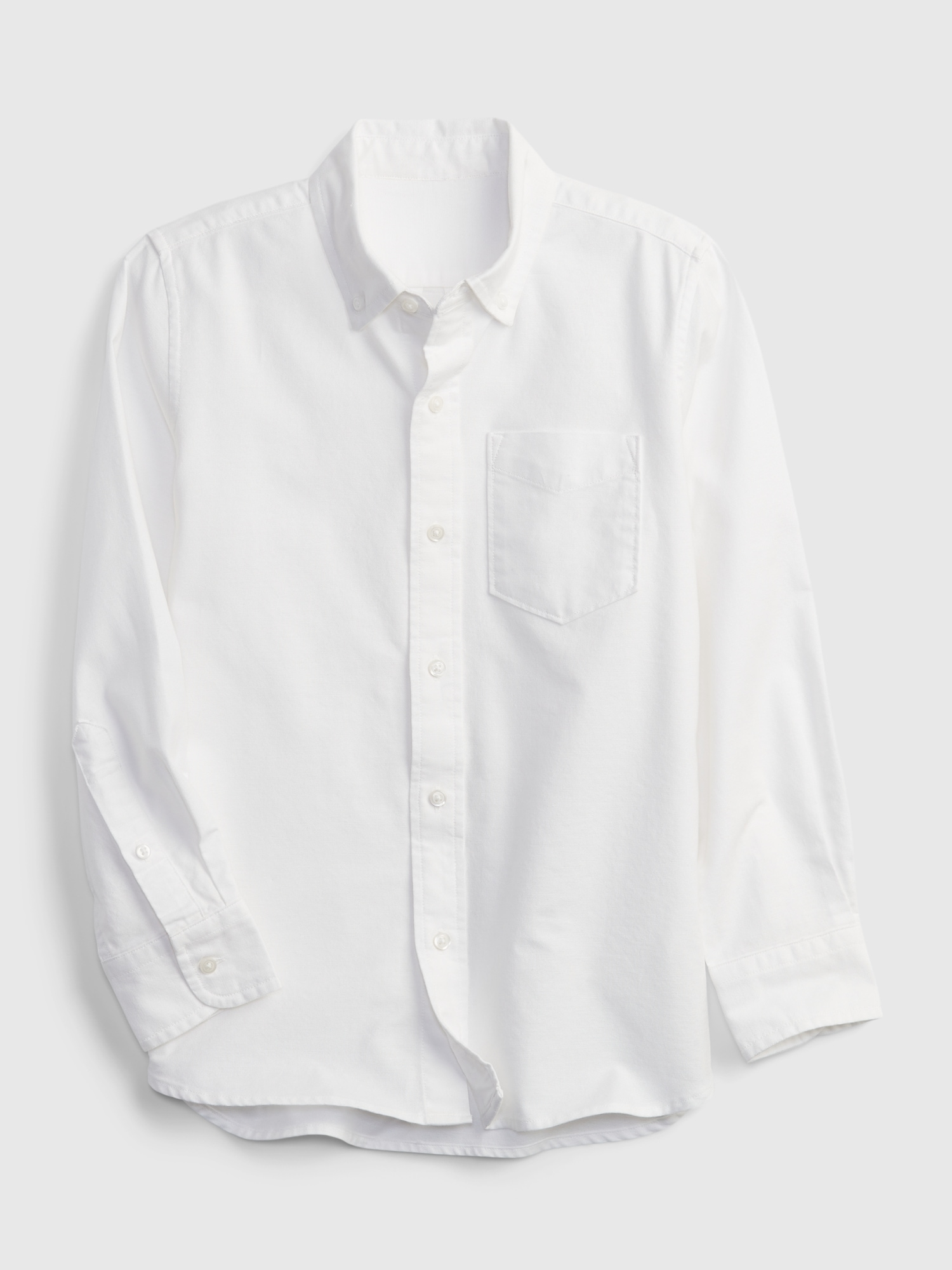 Bílá klučičí dětská košile oxford GAP