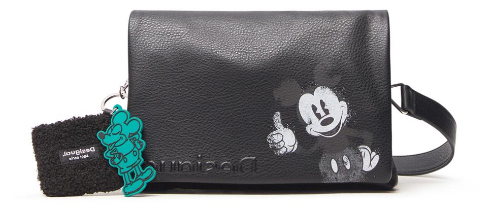 Desigual černé crossbody kabelka Mickey Dortmund Flap
