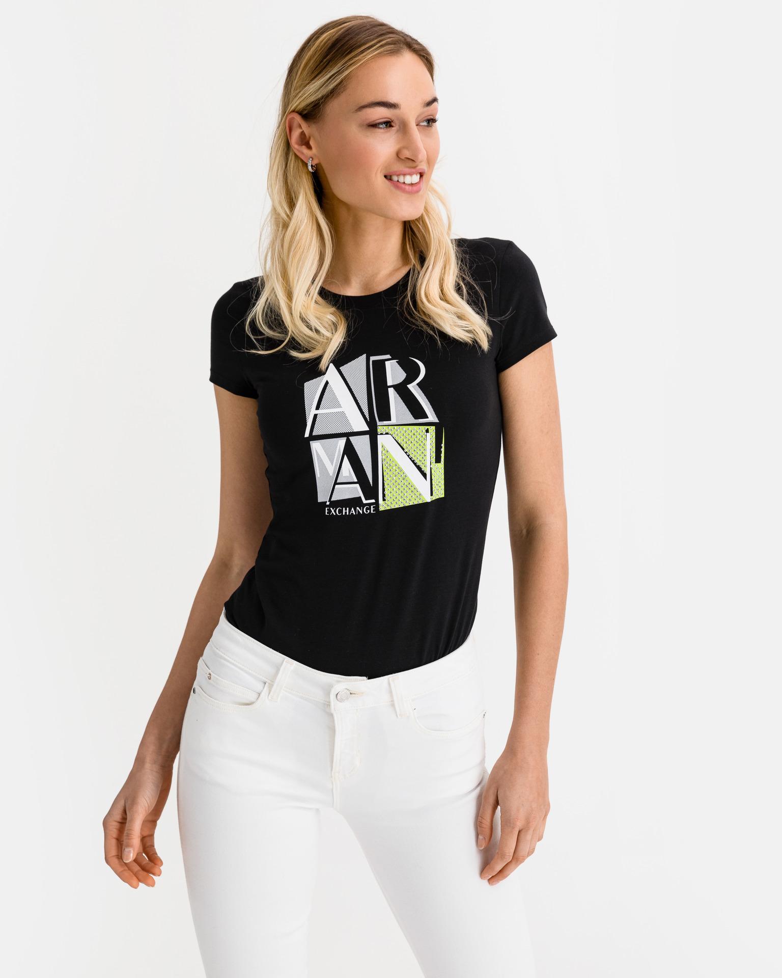Armani Exchange černé dámské tričko