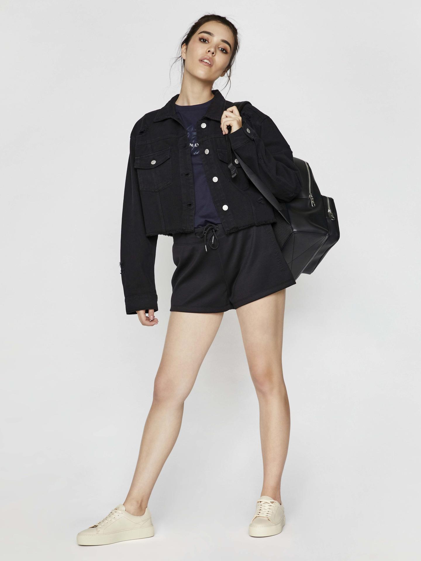 Armani Exchange modré dámské tričko