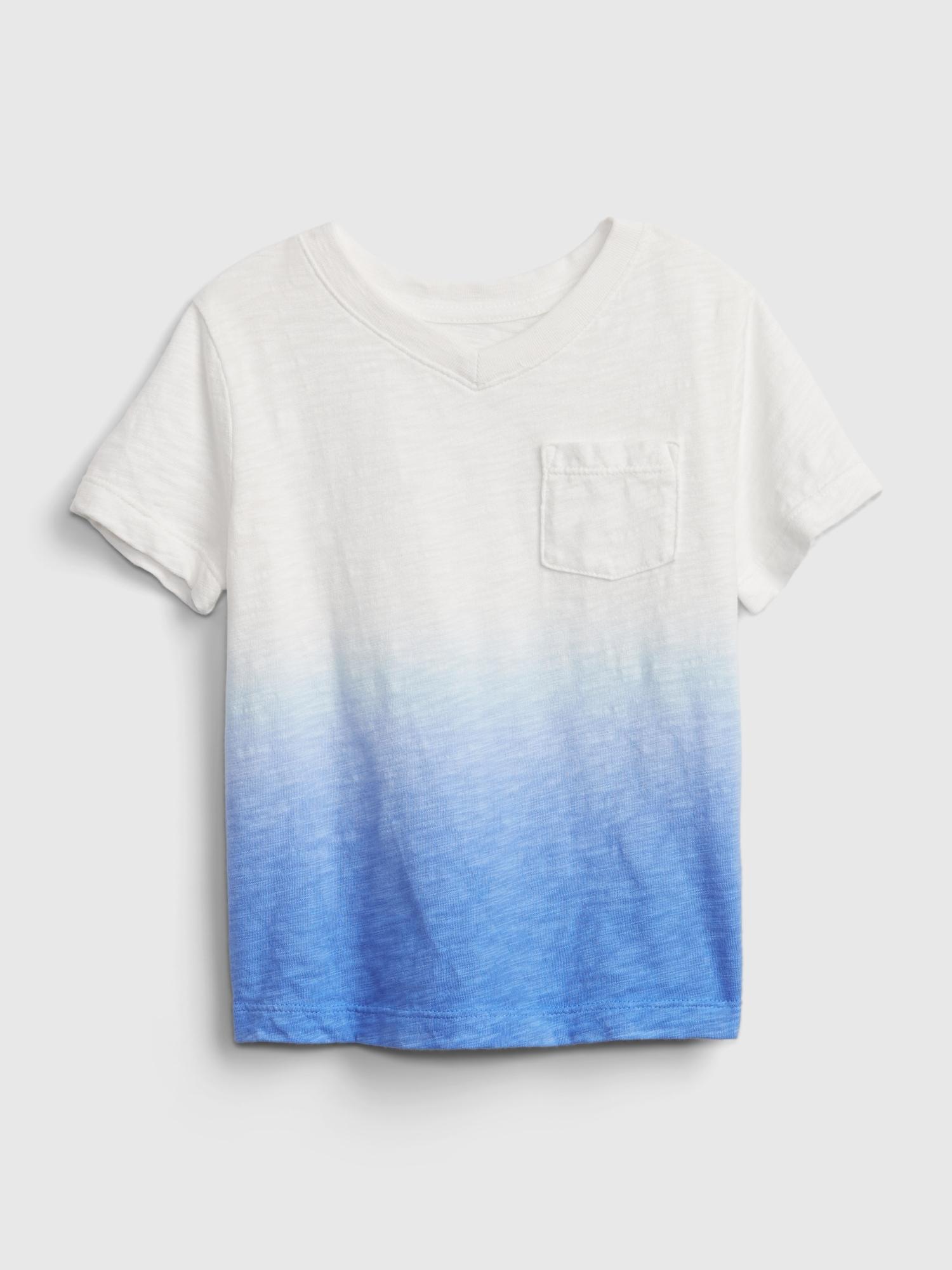 Barevné klučičí dětské tričko v-neck t-shirt GAP