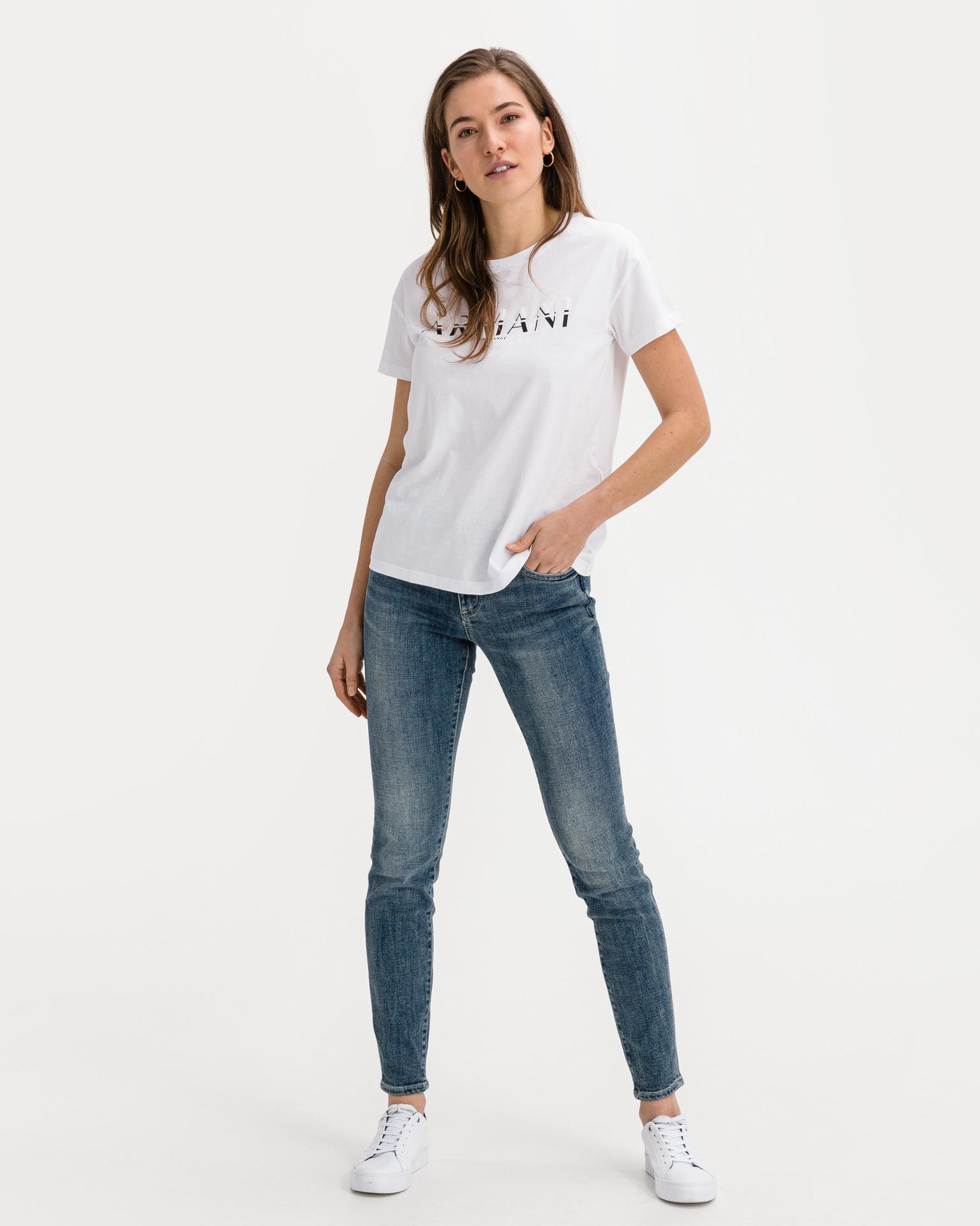 Armani Exchange bílé dámské tričko