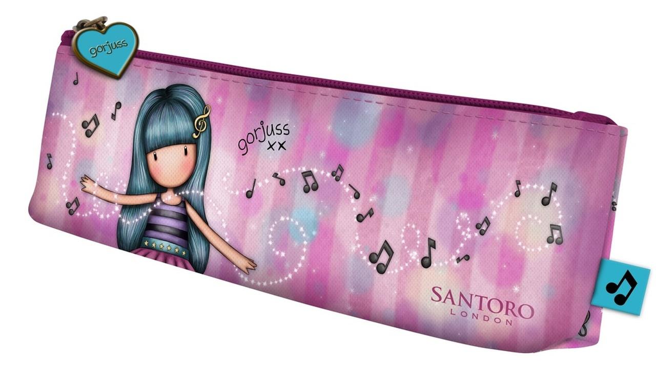 Santoro růžové penál Gorjuss Dancing Among The Stars