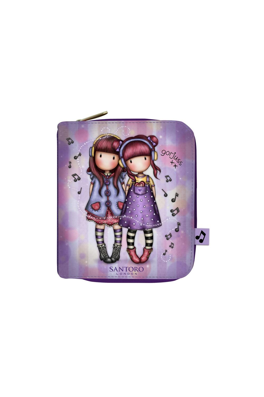 Santoro fialové peněženka Gorjuss The Duet