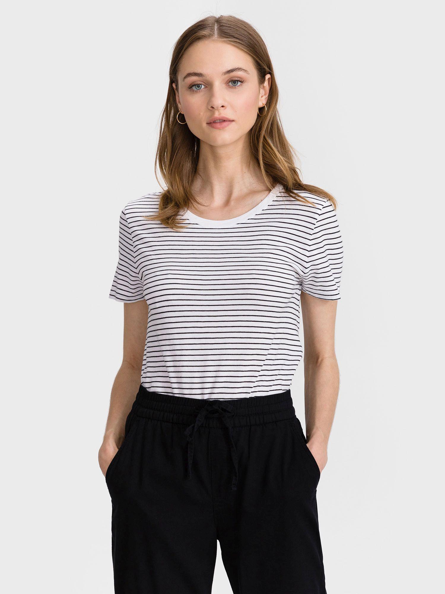 GAP šedé pruhované tričko Favorite