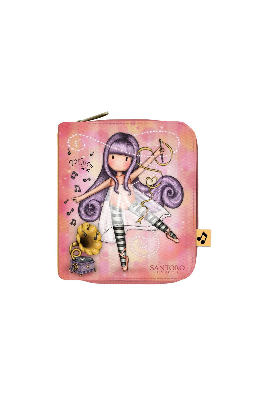Santoro lososové peněženka Gorjuss Little Dancer