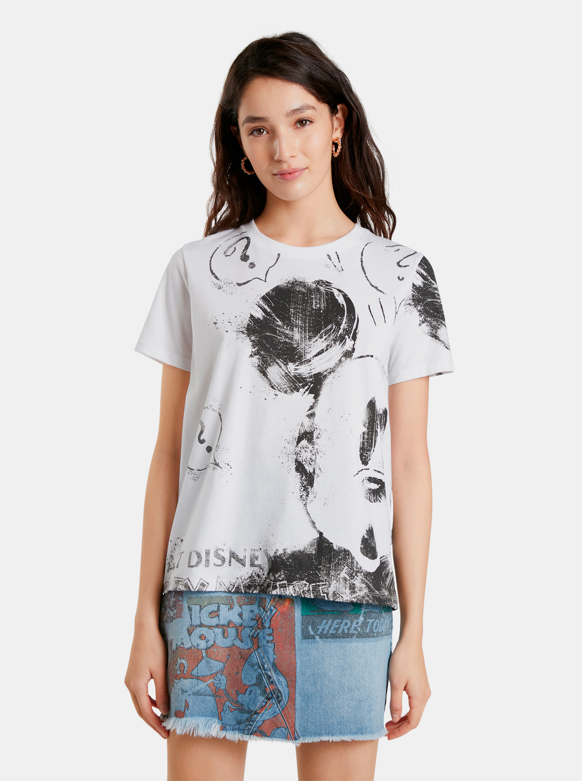 Desigual bílé tričko Mickey