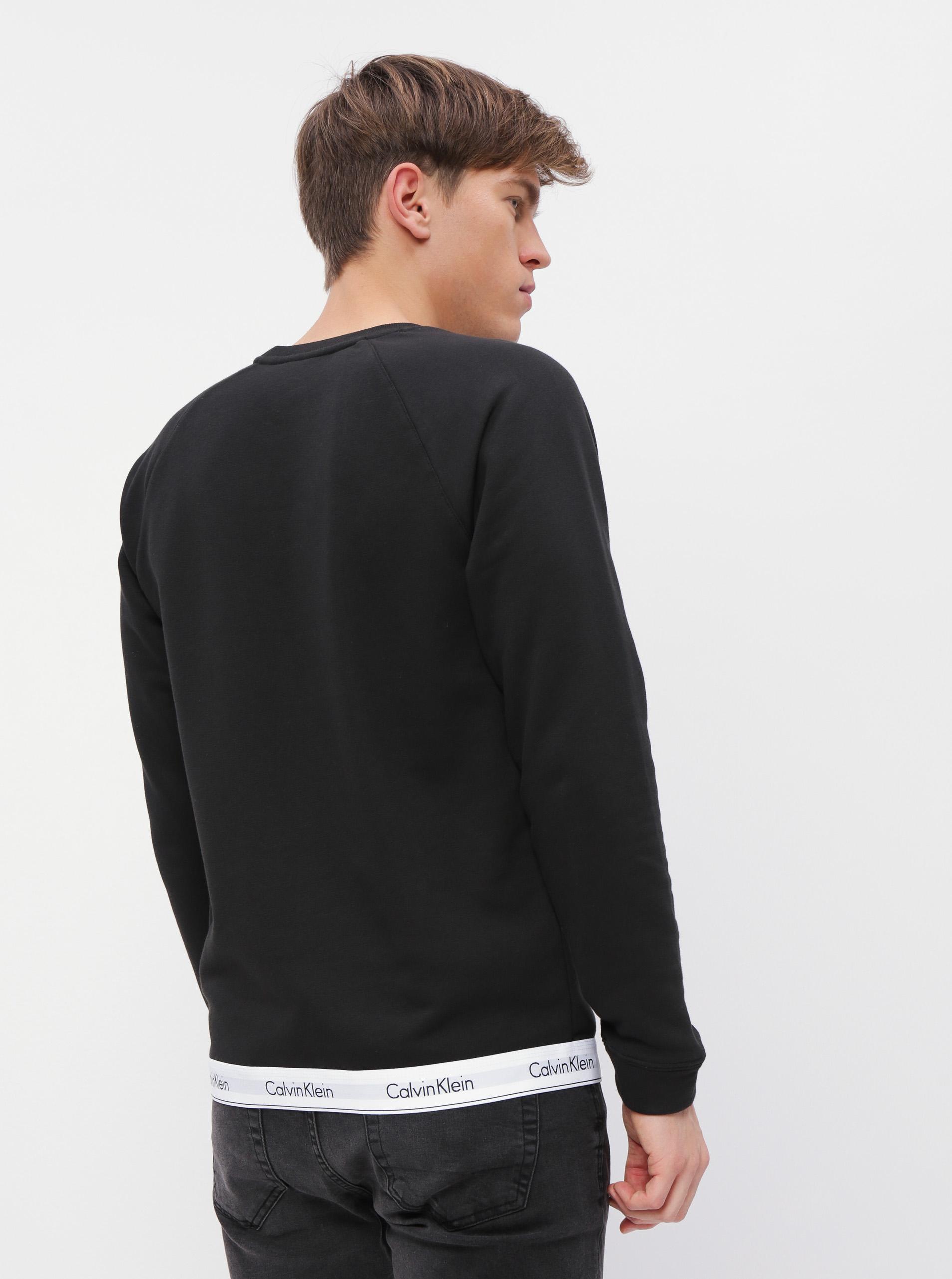 Calvin Klein černá pánská mikina Sweatshirt Basic