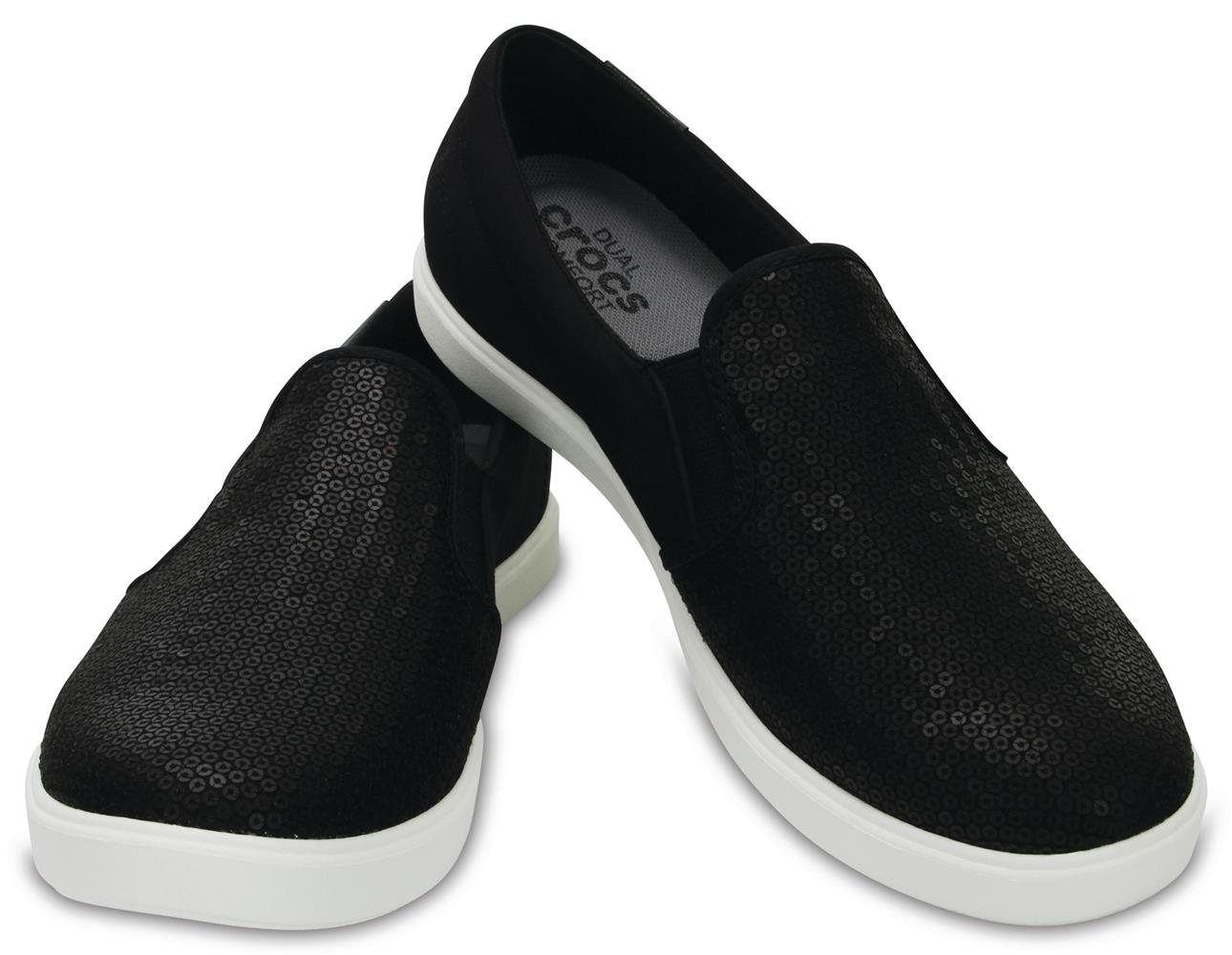 Crocs černé boty Citilane Sequin Slip-on Black - W7