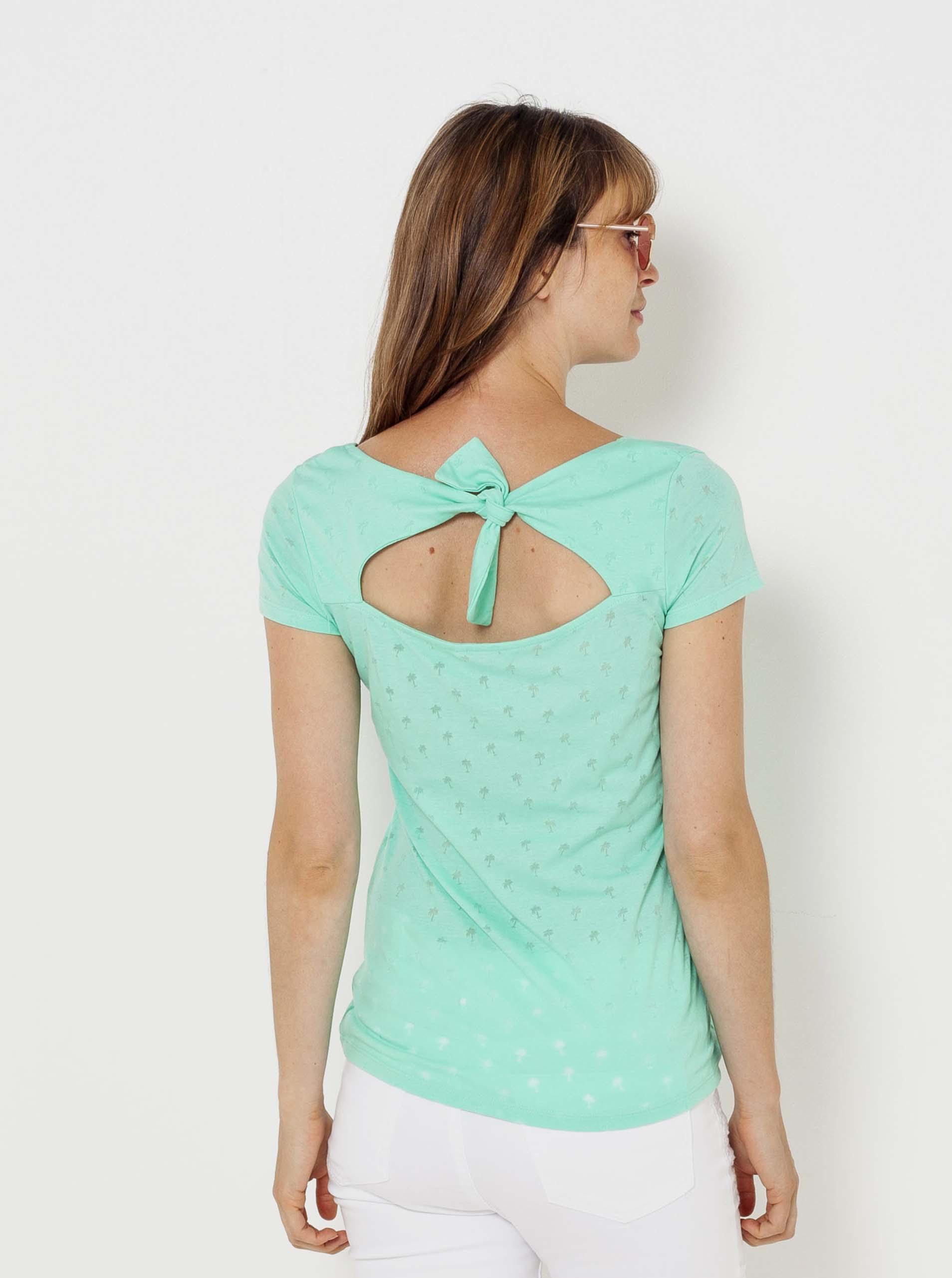 CAMAIEU tyrkysové tričko se vzorem
