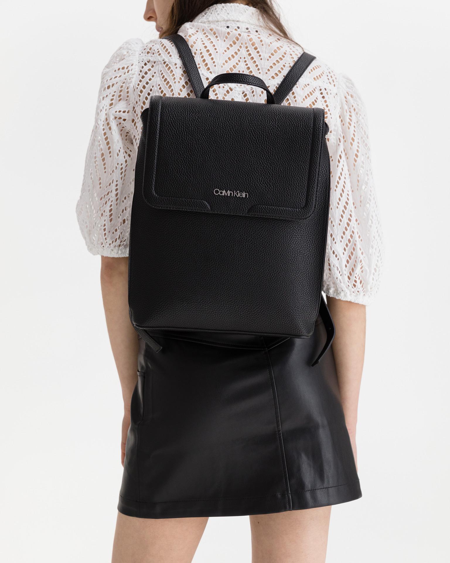 Calvin Klein černé batoh Flap