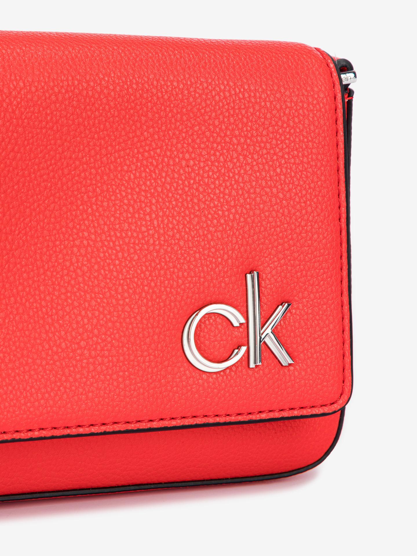 Calvin Klein červené crossbody kabelka Ew Flap