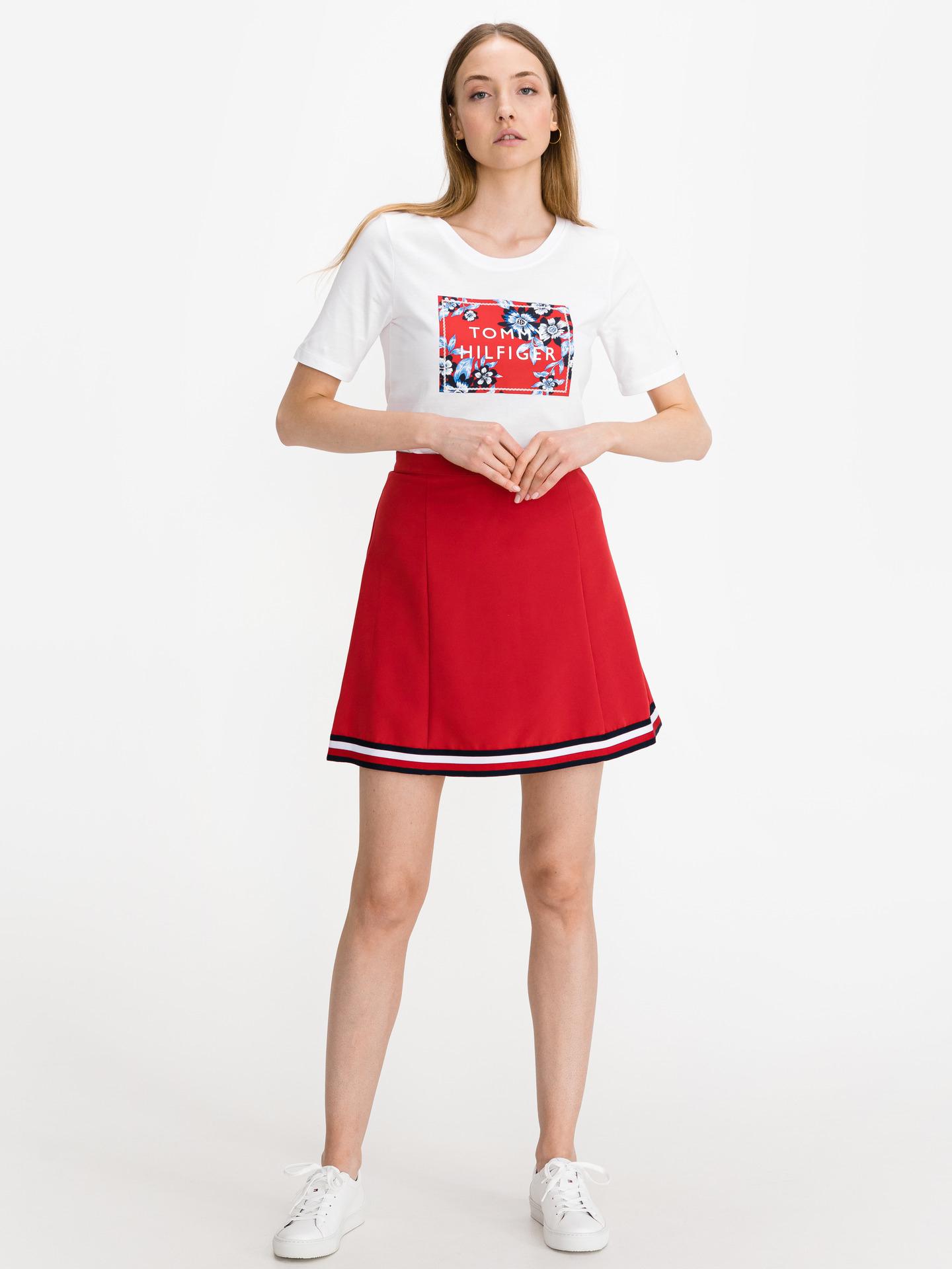 Tommy Hilfiger bílé dámské tričko Box Logo