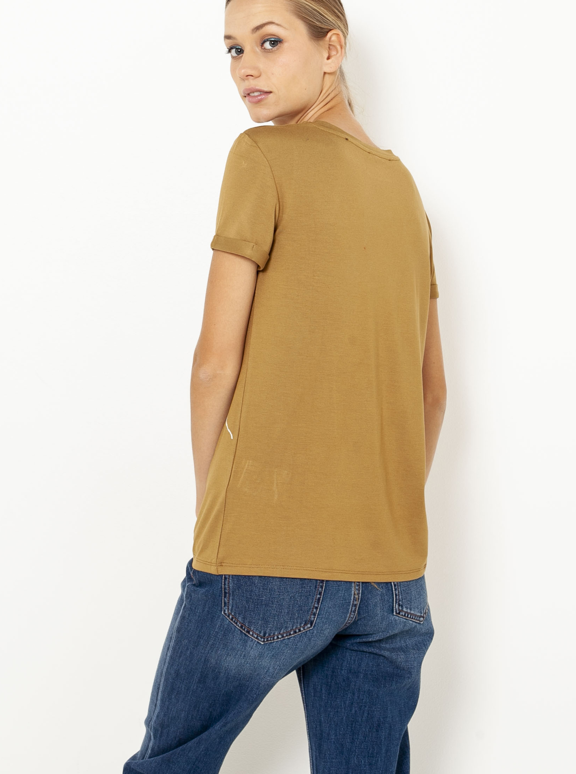 Světle hnědé tričko CAMAIEU