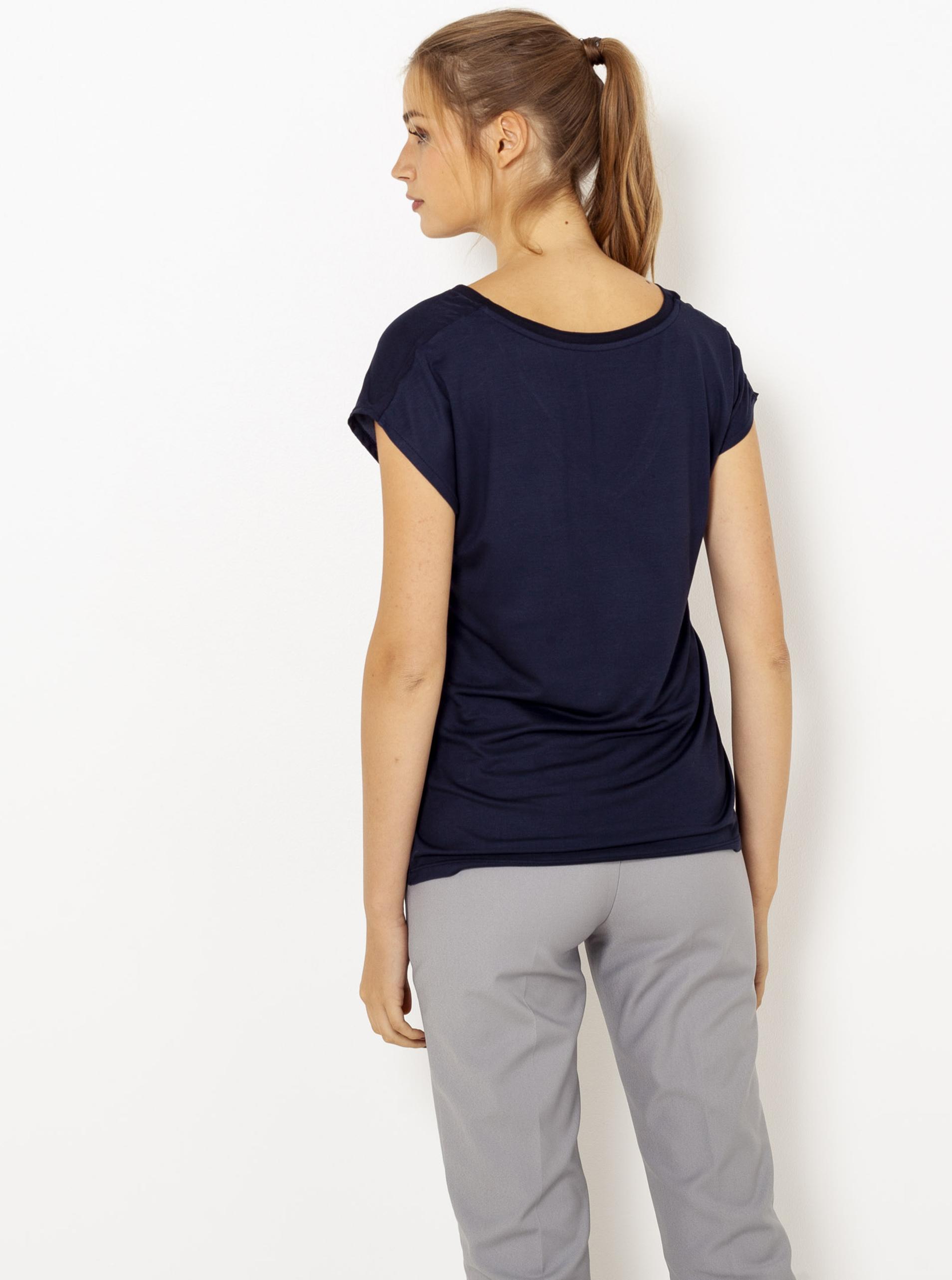 Tmavě modré tričko CAMAIEU