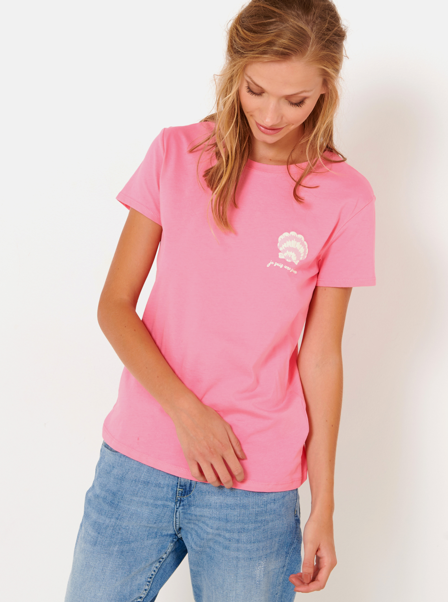 CAMAIEU růžové tričko