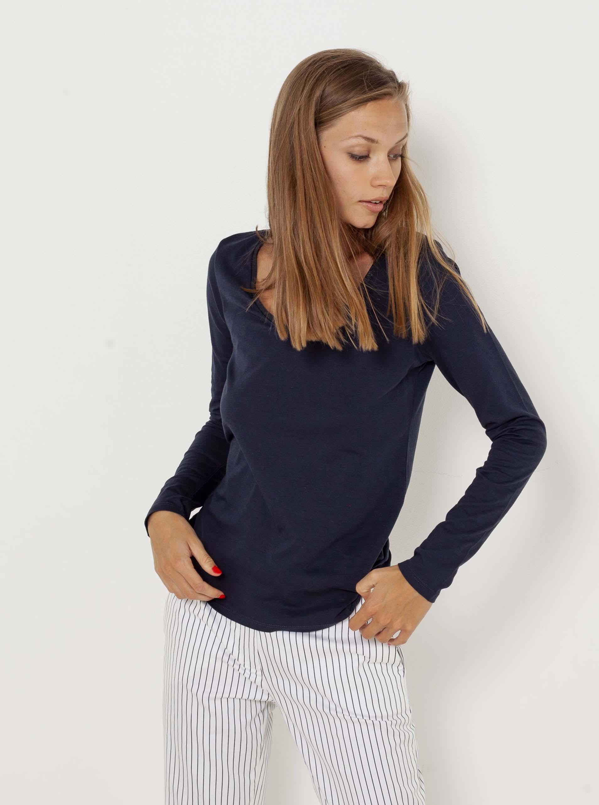 CAMAIEU modré basic tričko