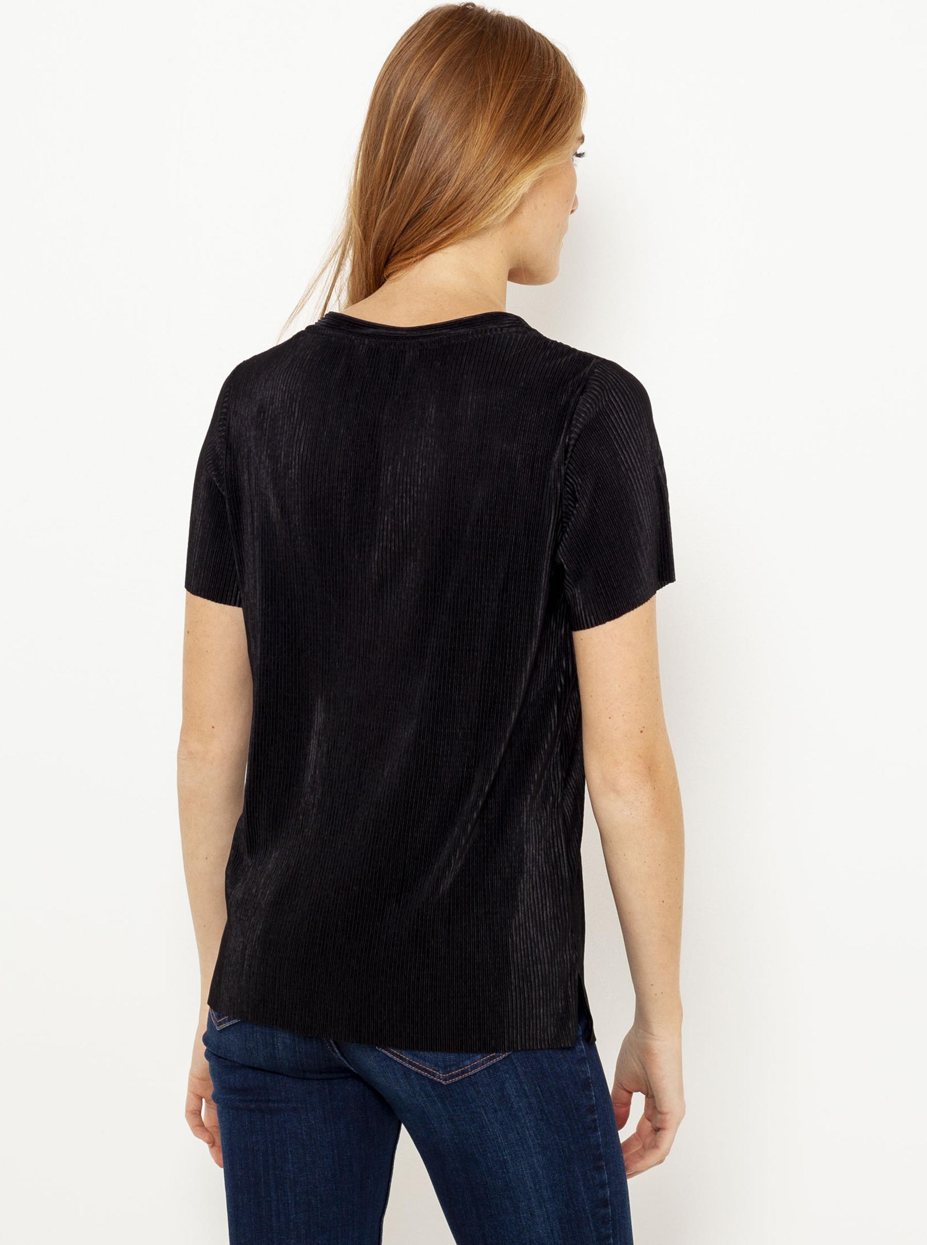 Černé plisované tričko CAMAIEU