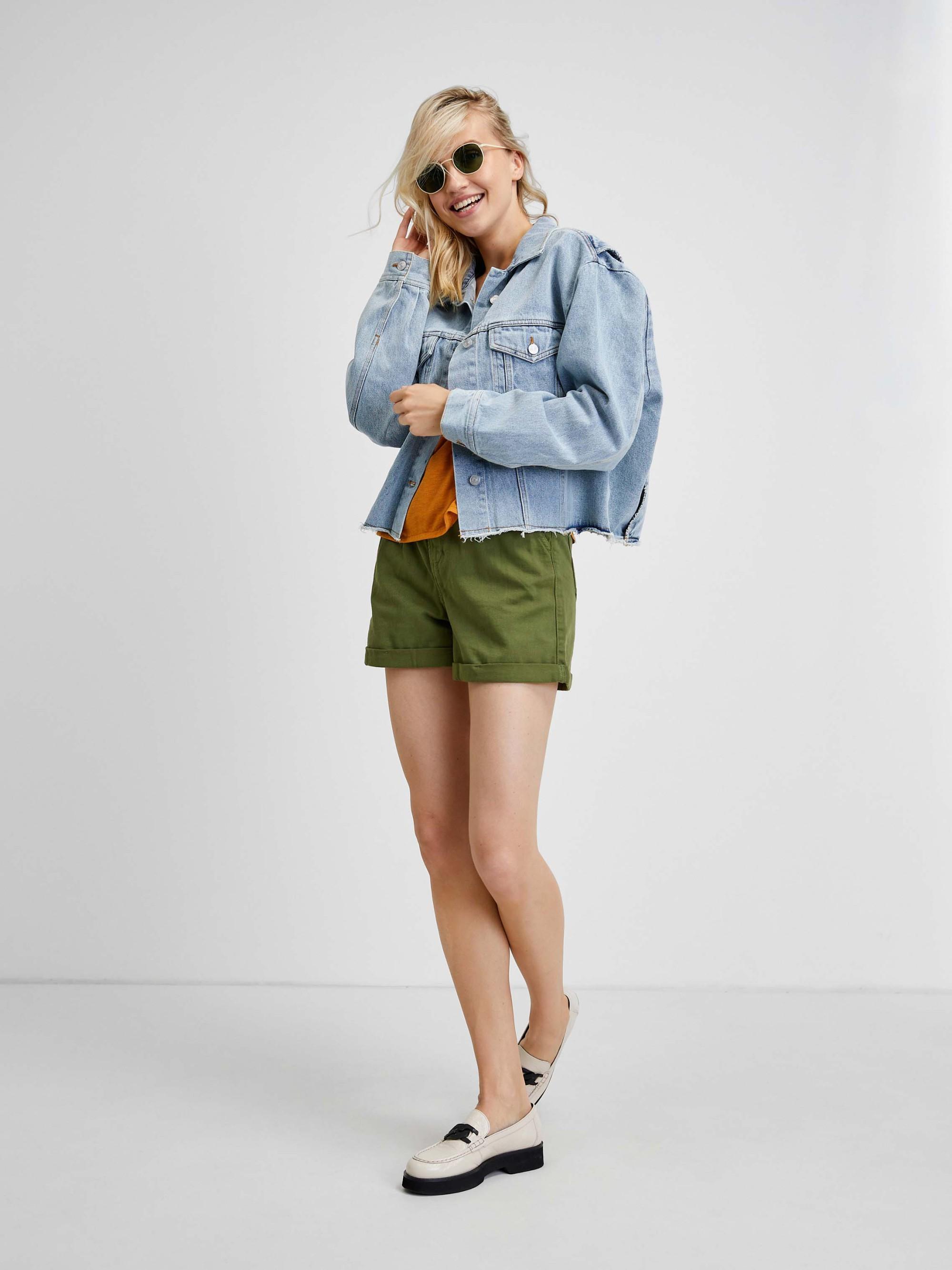 Zelené tričko s tříčtvrtečním rukávem CAMAIEU