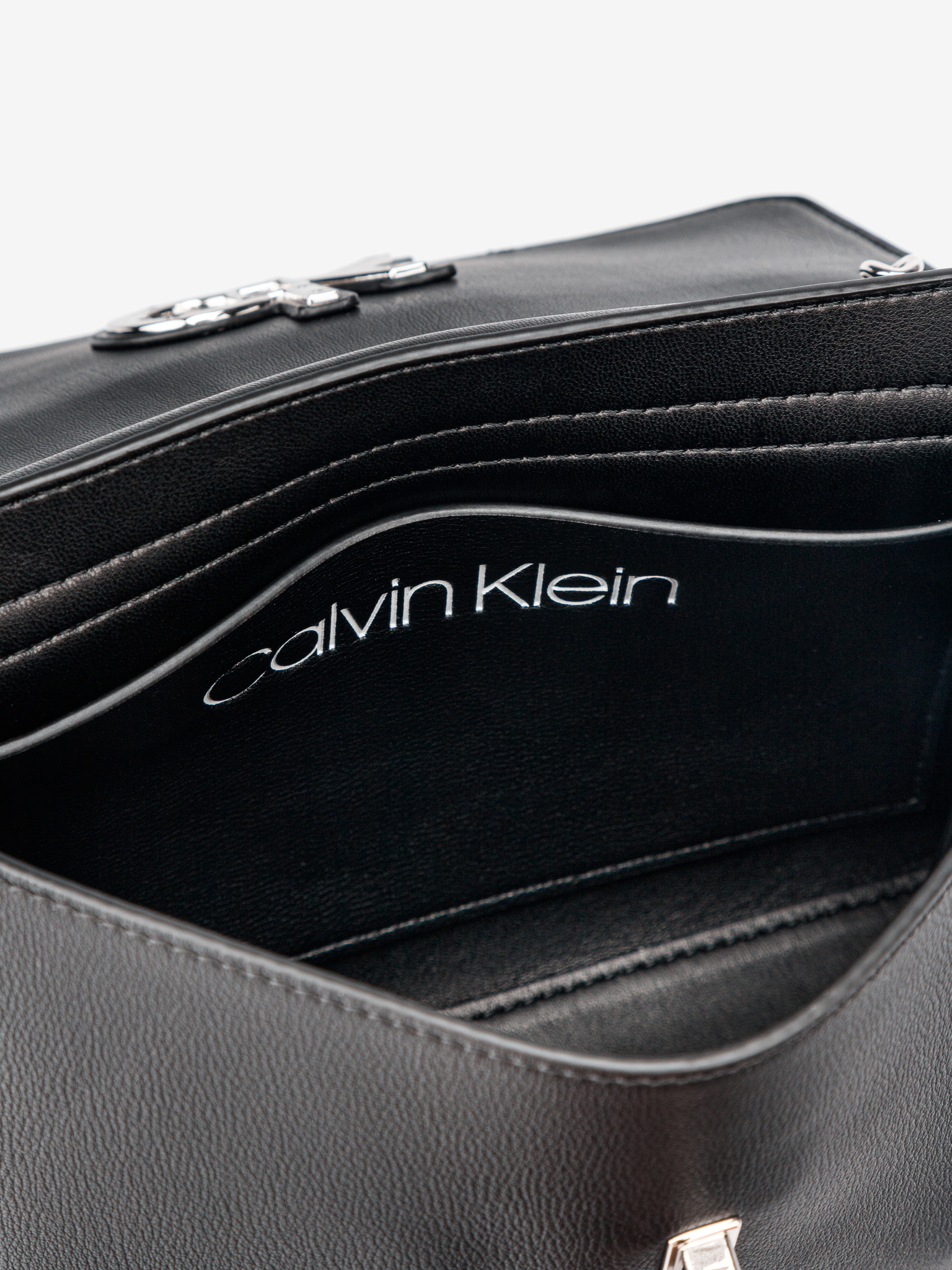 Calvin Klein černá crossbody taška Ew Conv Flap