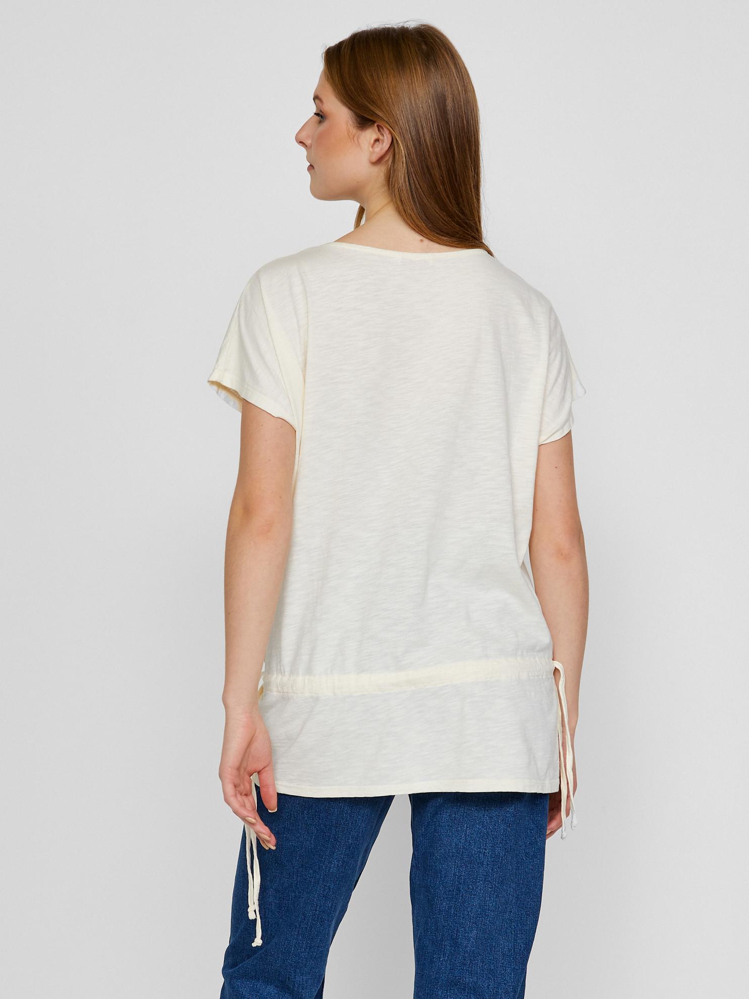 CAMAIEU bílé tričko s krajkou