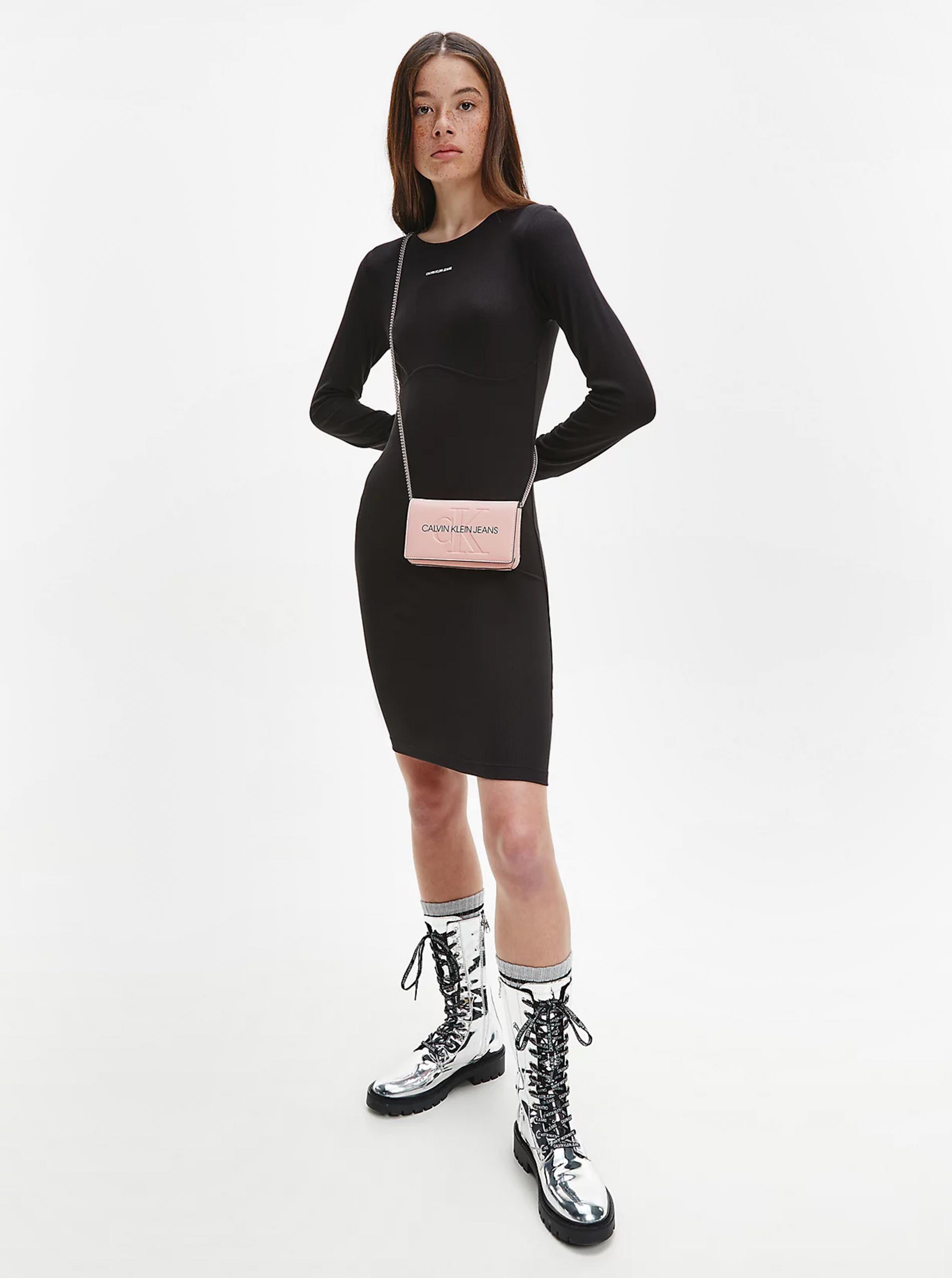 Calvin Klein růžová crossbody kabelka