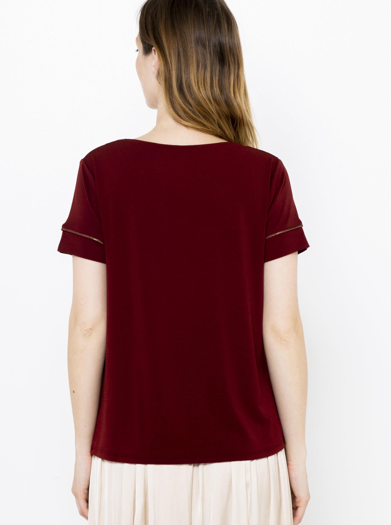 CAMAIEU vínové/bordové tričko