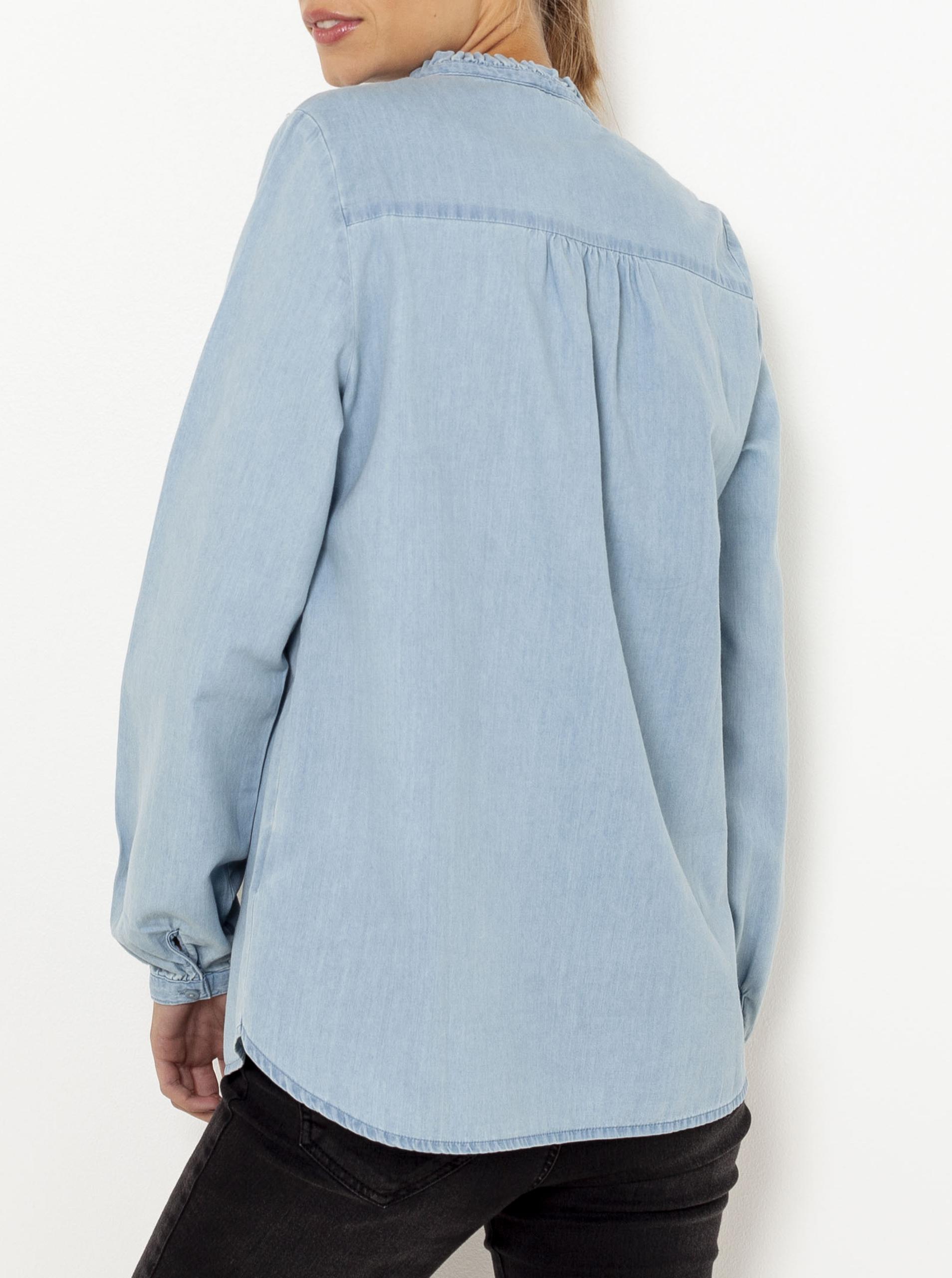 Světle modrá džínová halenka CAMAIEU
