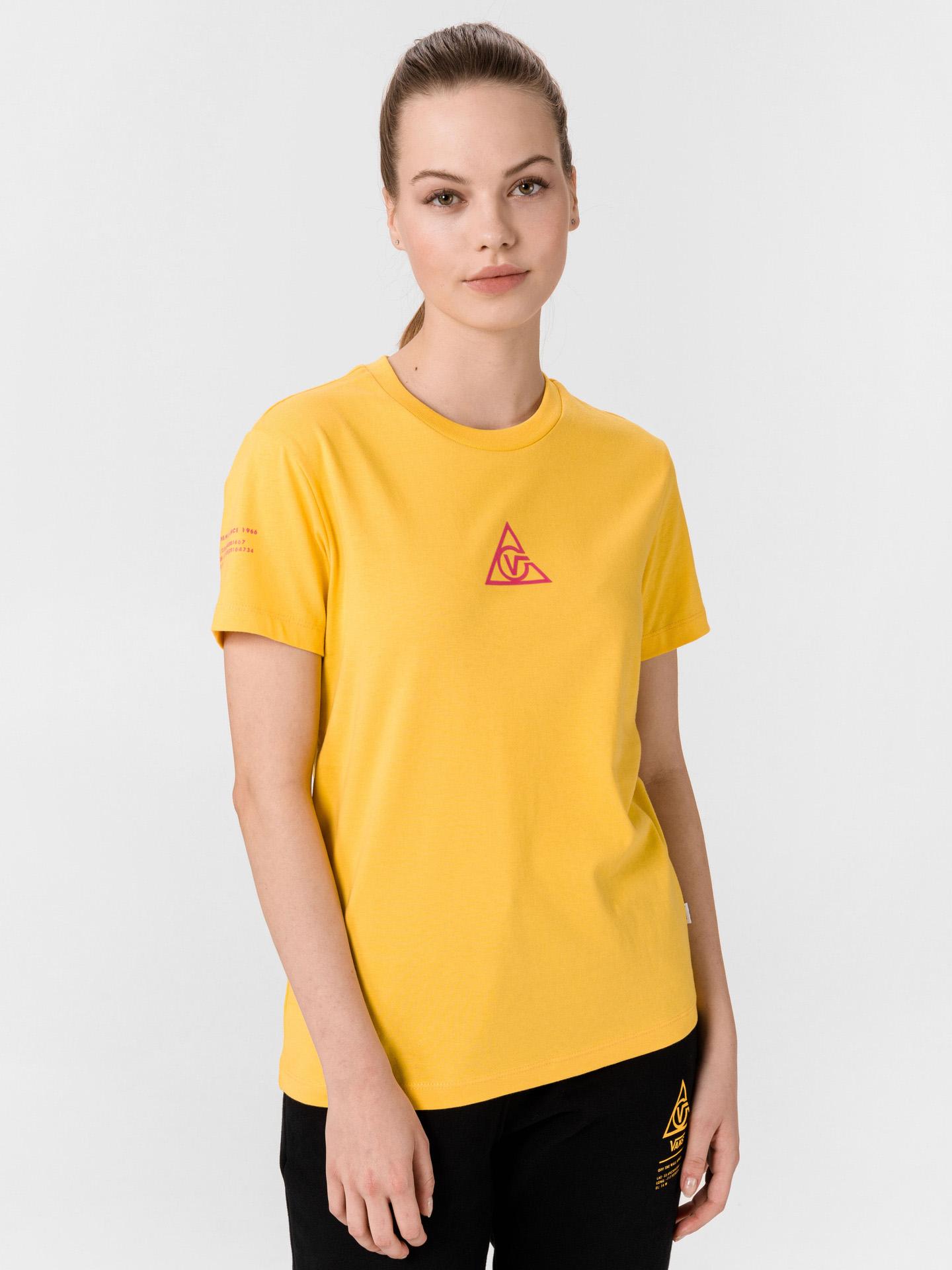 Vans žluté tričko 66 Supply Tri Boyfriend