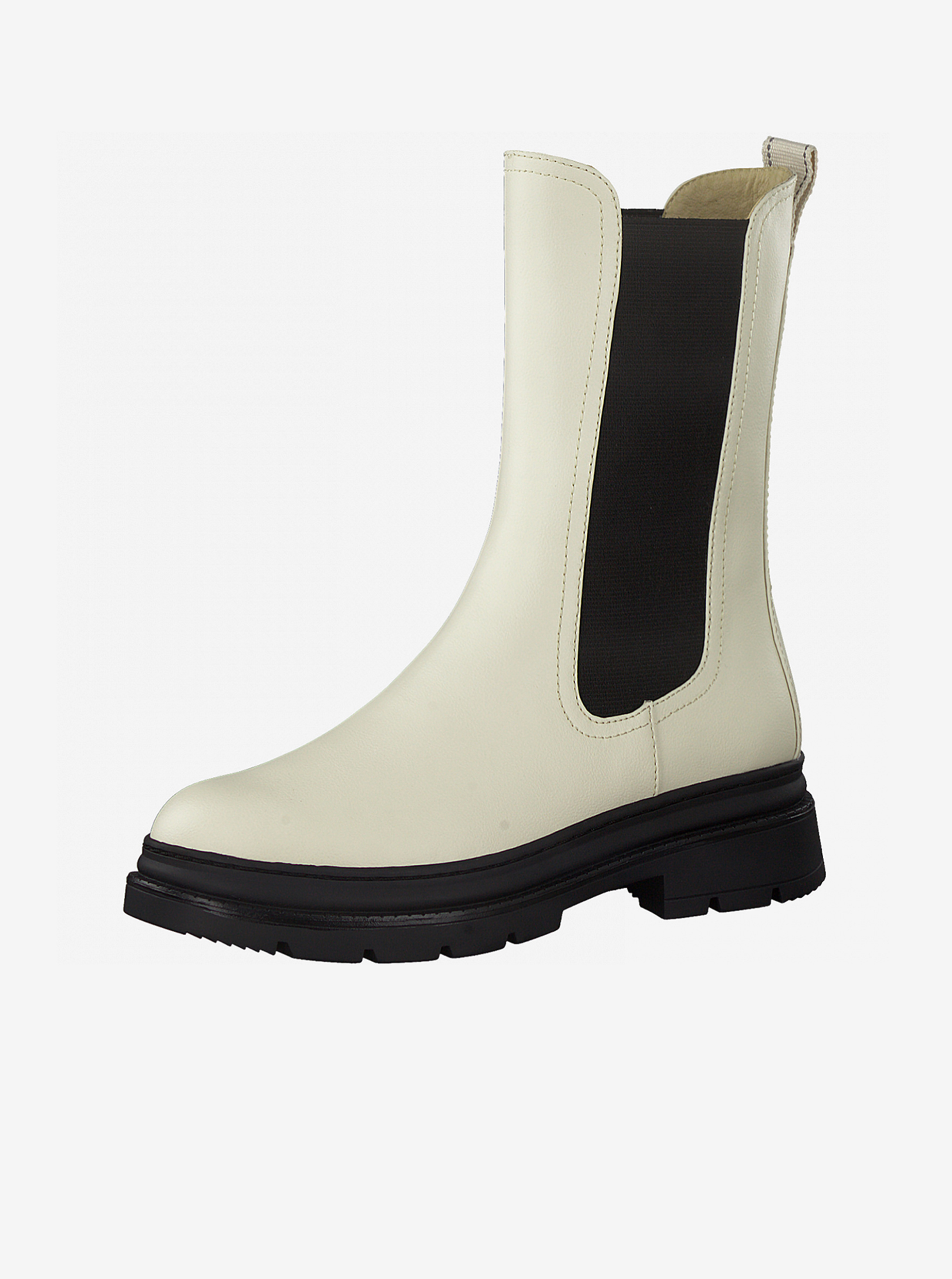 Tamaris smetanové/krémové kotníkové boty na platformě - 40