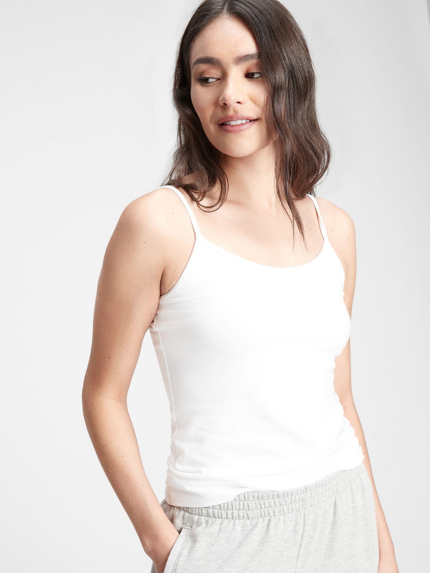 Bílé dámské tílko fitted cami