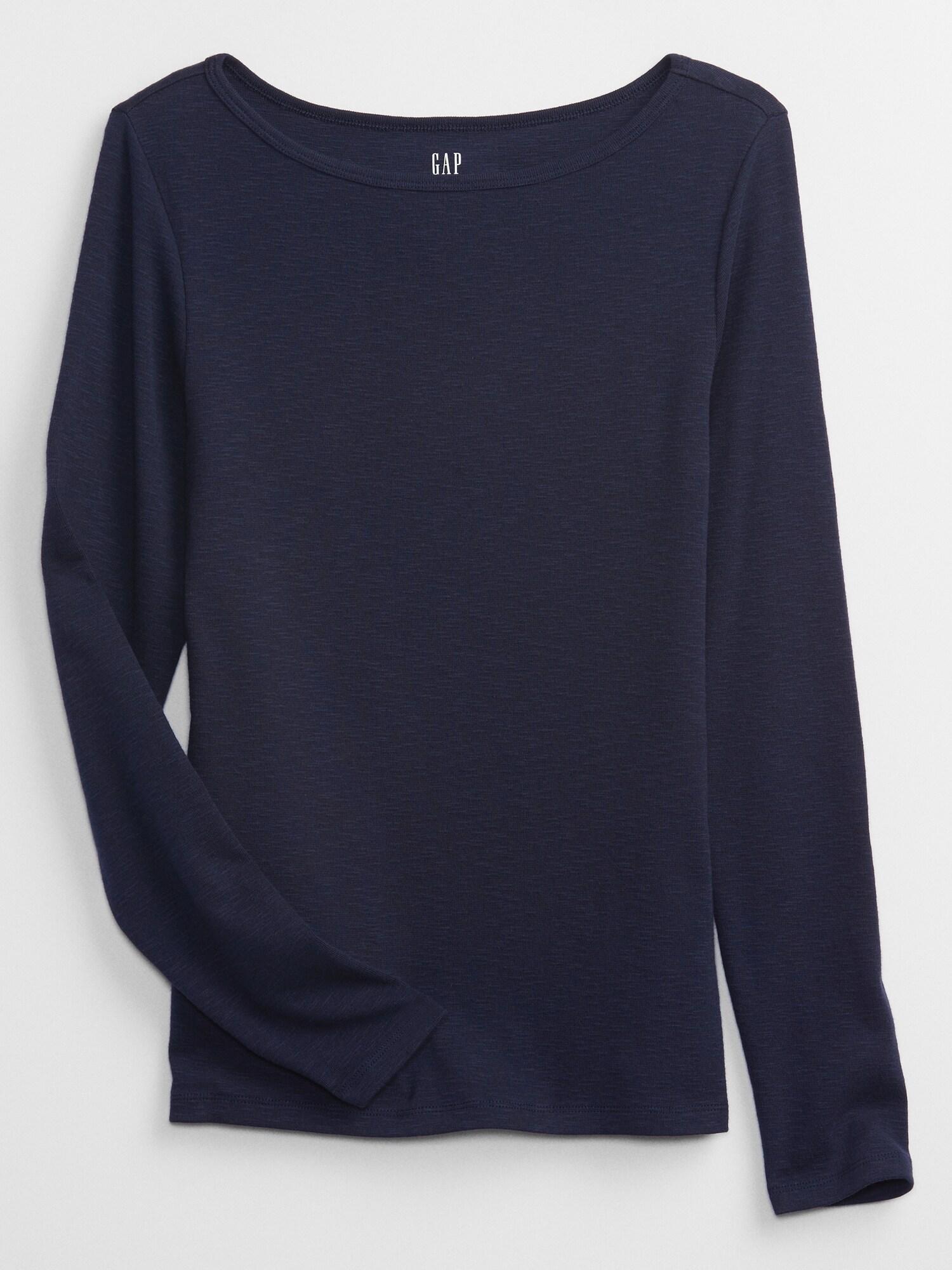 Modré dámské tričko Basic