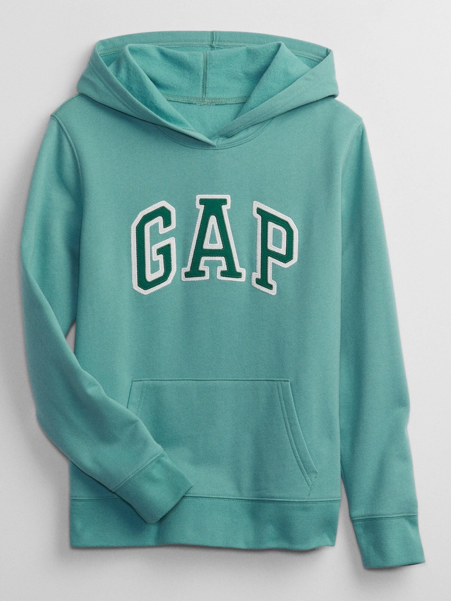 Zelená dámská mikina s kapucí GAP Logo